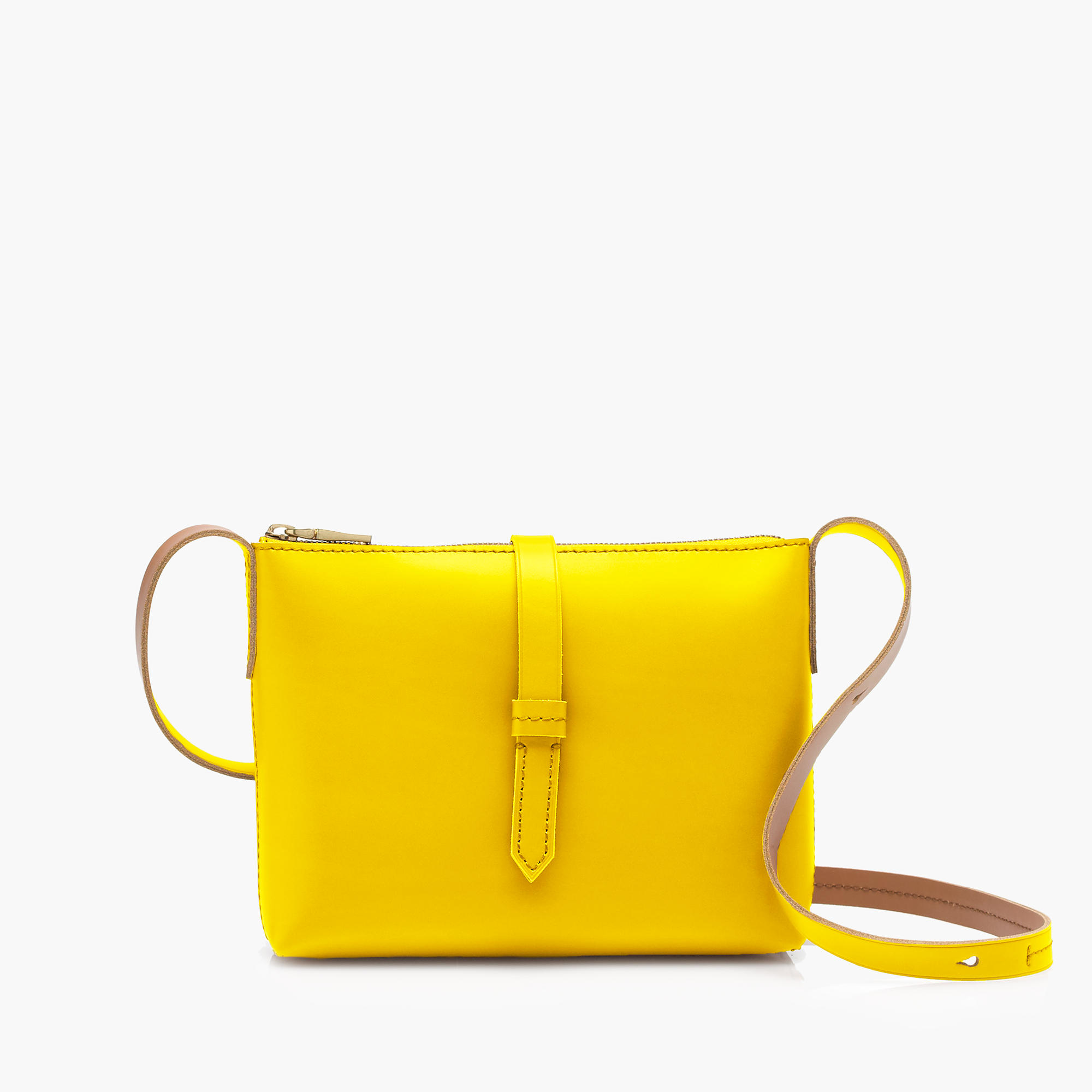 j crew crossbody bag in yellow lyst