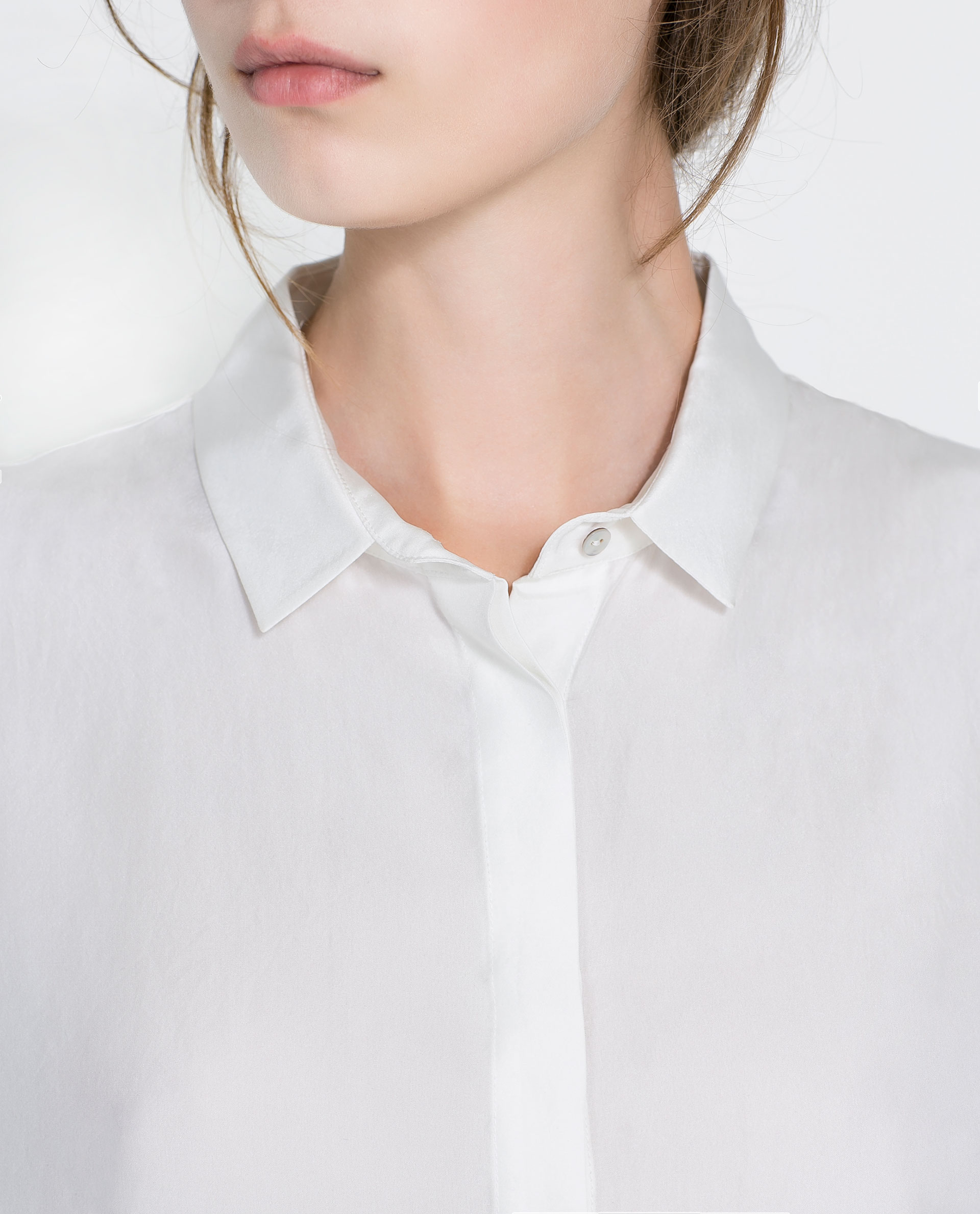 Zara White Silk Blouse 51