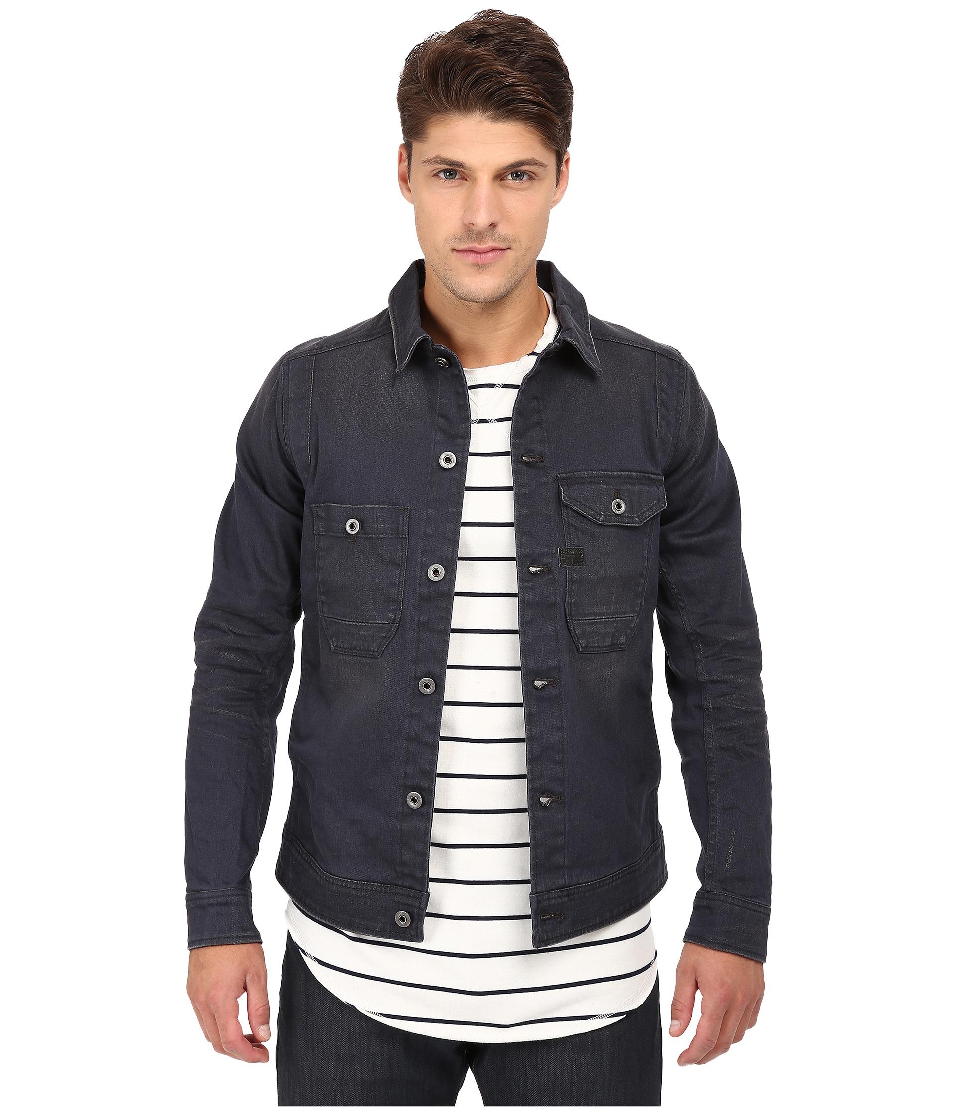 7d8b02b9ef87 Lyst G Star Raw Wolker Slim Jacket In Cirus Grey Stretch Denim