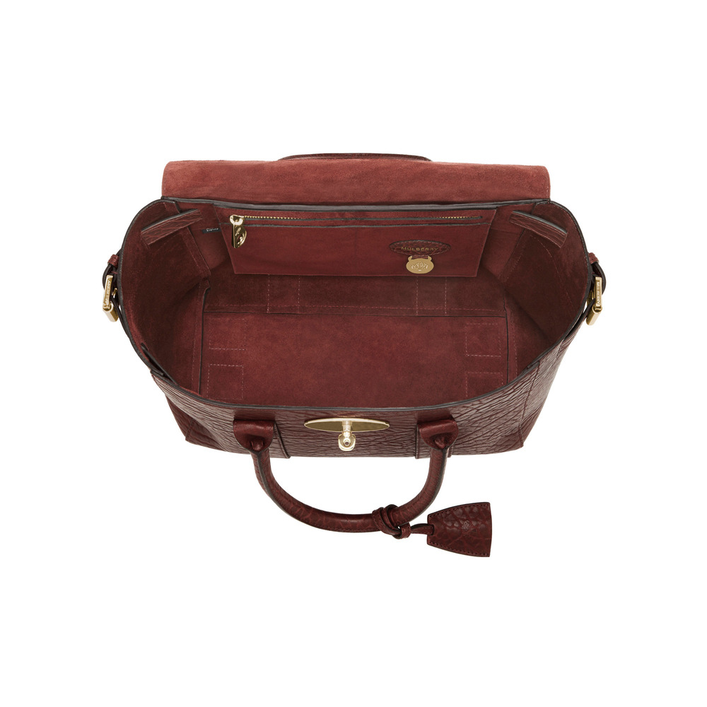 fd5e7042c564 Mulberry Small Bayswater Buckle in Red (oxblood)