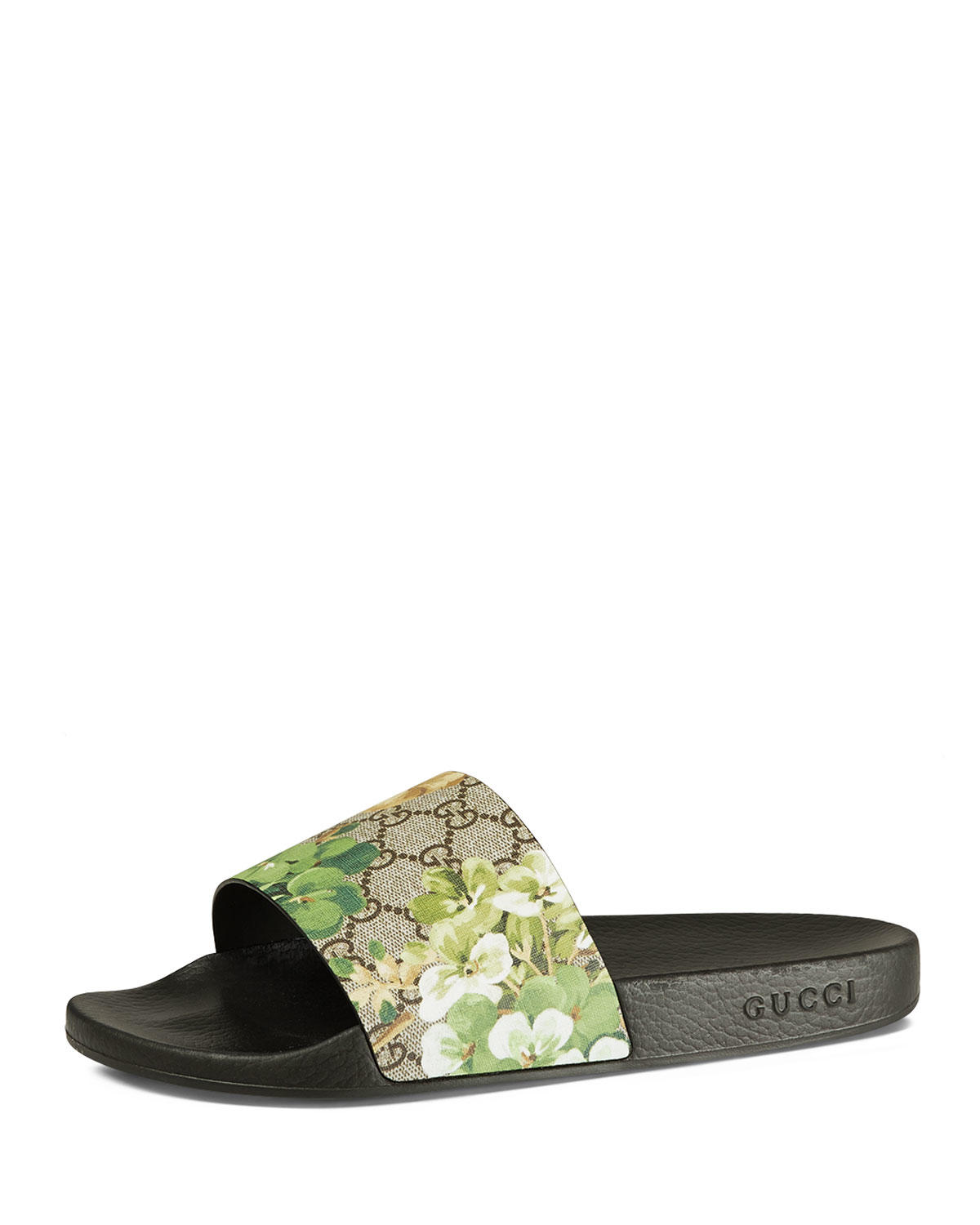 cb4254598 Lyst - Gucci Pursuit Blooms Printed Sandal