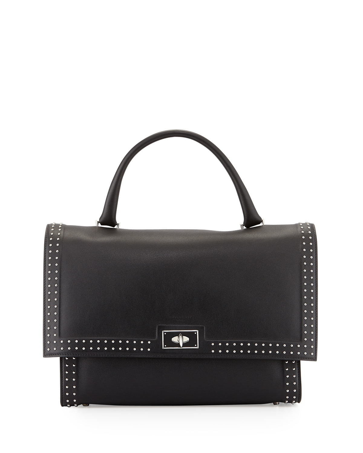 givenchy shark medium studded shoulder bag in black lyst