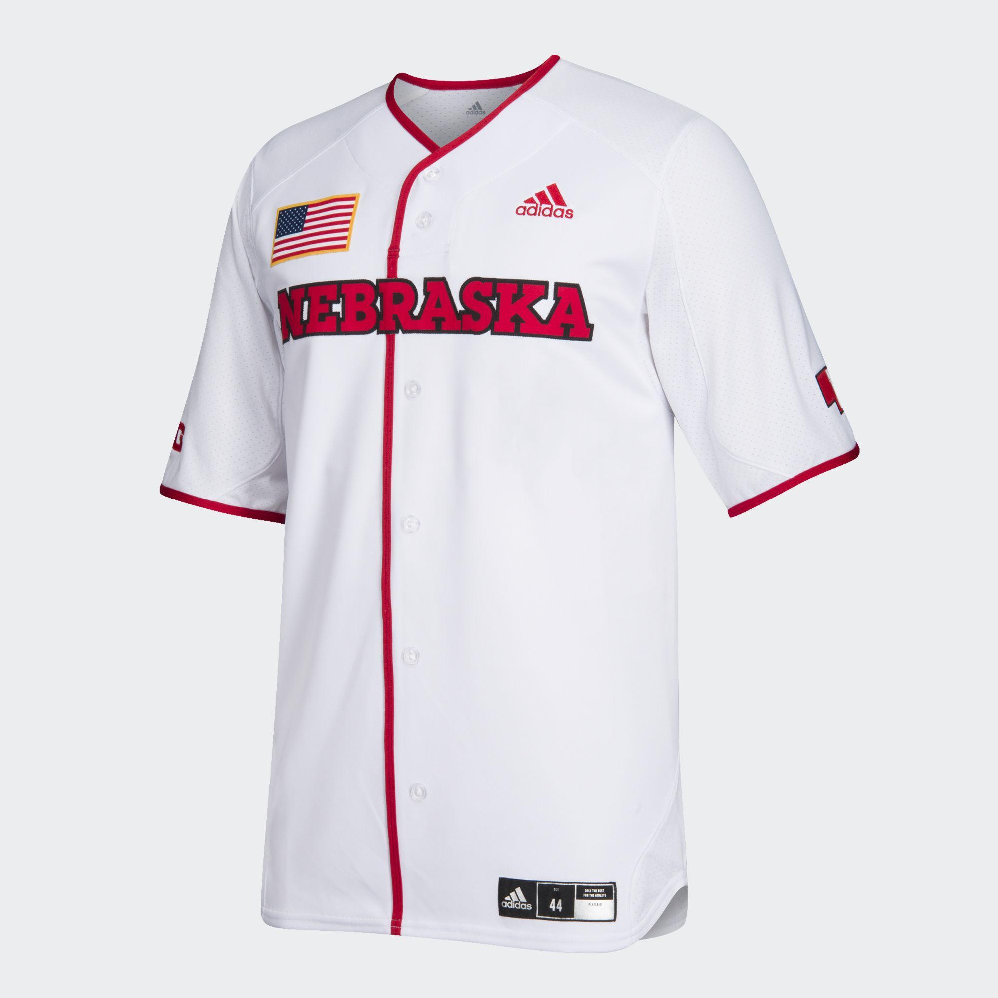Lyst Adidas Baseball Jersey Nebraska en blanco para los hombres