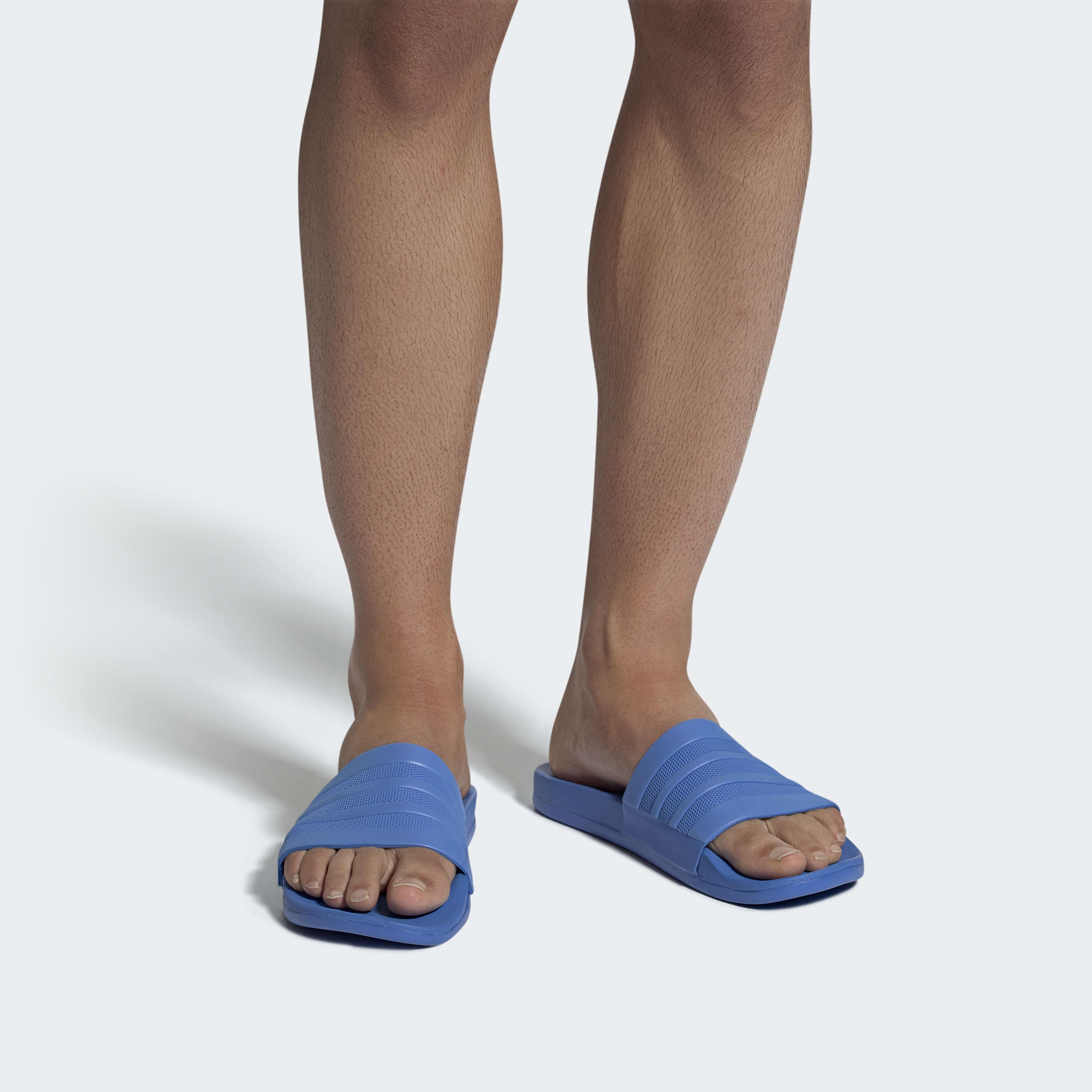 a3b2a6b48ce Adidas - Blue Sandale adilette Cloudfoam Plus Mono for Men - Lyst. Afficher  en plein écran