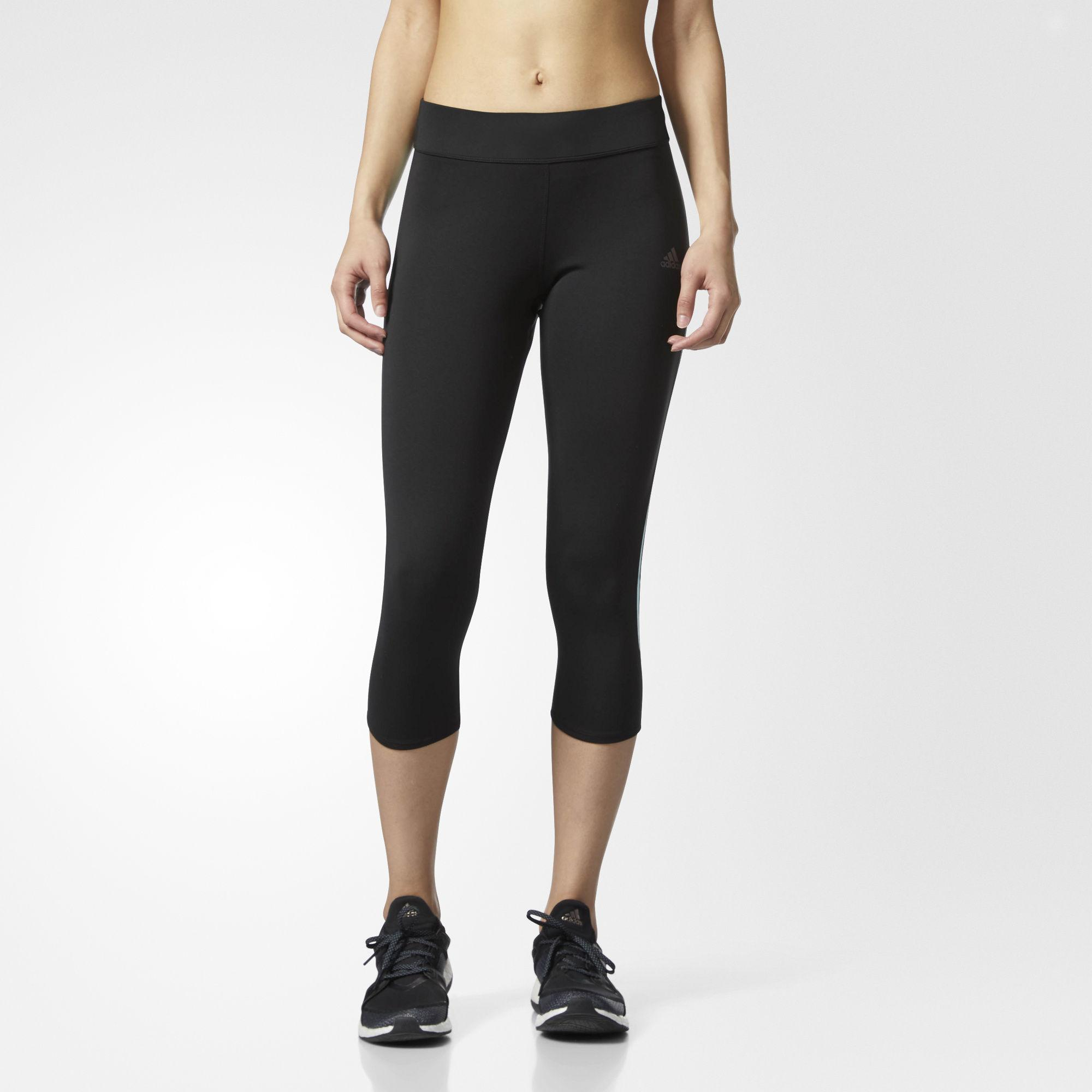 adidas Response Three quarter Tights in Black Lyst