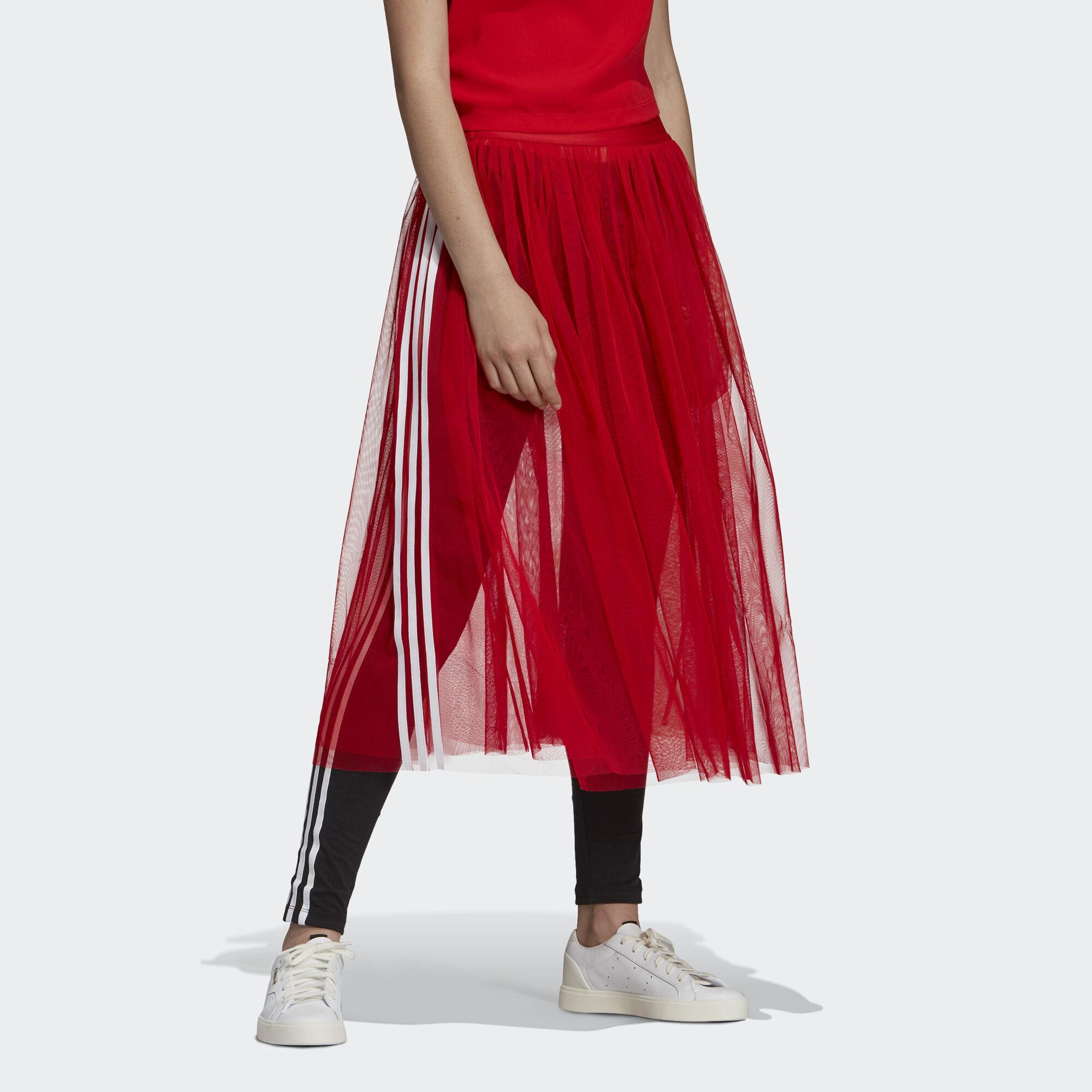 c9e606434 Falda Tulle adidas de color Rojo - Lyst