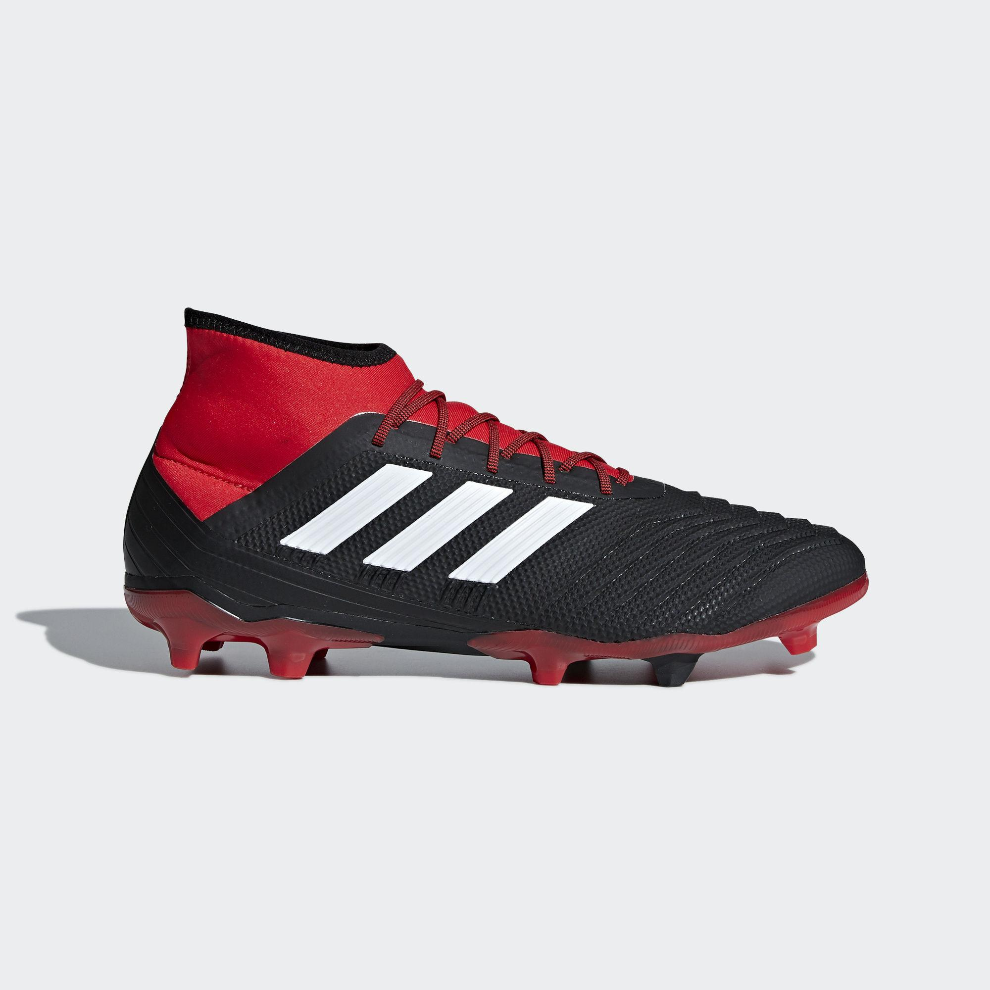 6b1d5eaab adidas Predator 18.2 Firm Ground Boots in Red for Men - Lyst