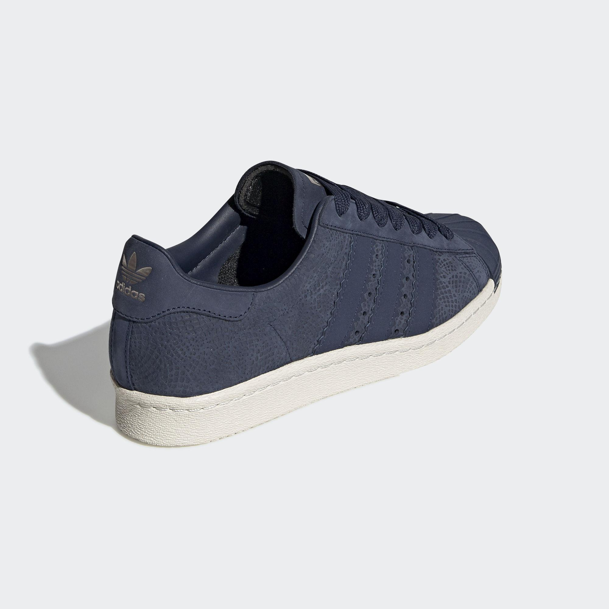 promo code 682f0 617f3 Adidas - Blue Superstar 80s Shoes - Lyst. View fullscreen