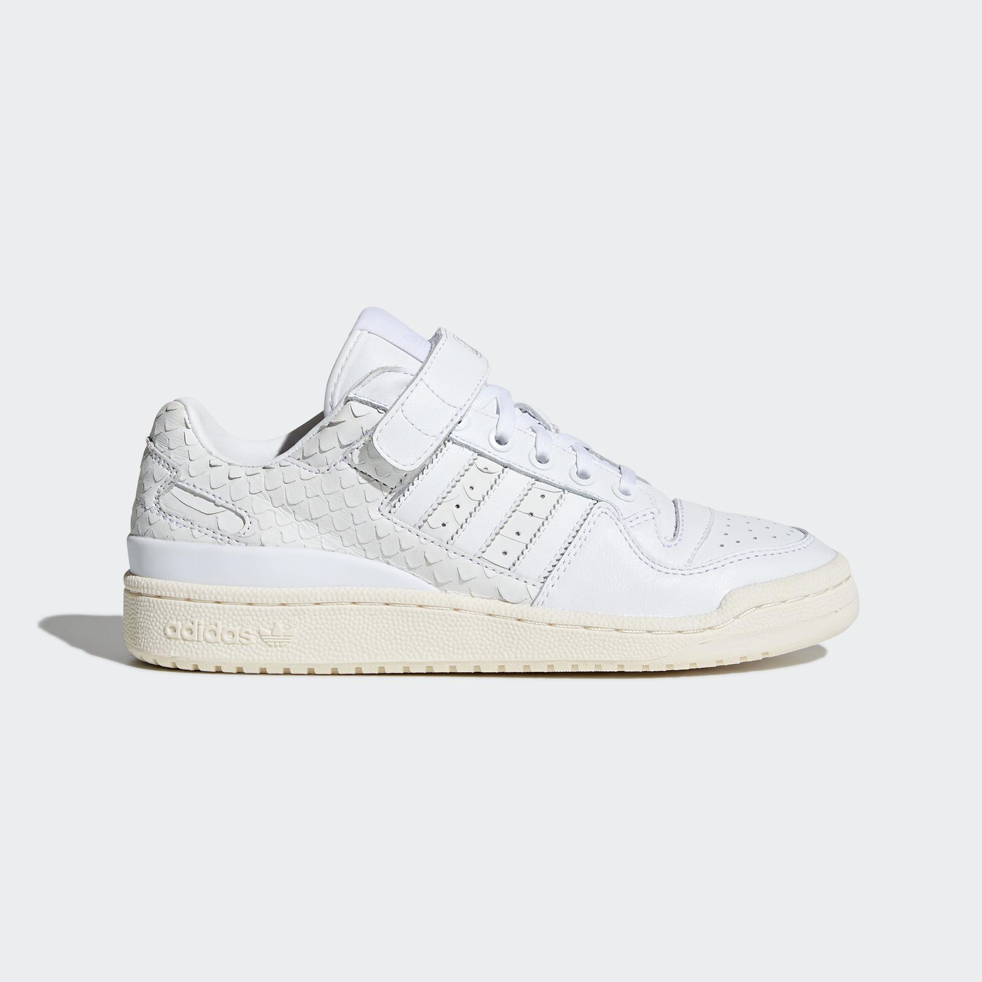 lyst adidas forum basso scarpe bianche