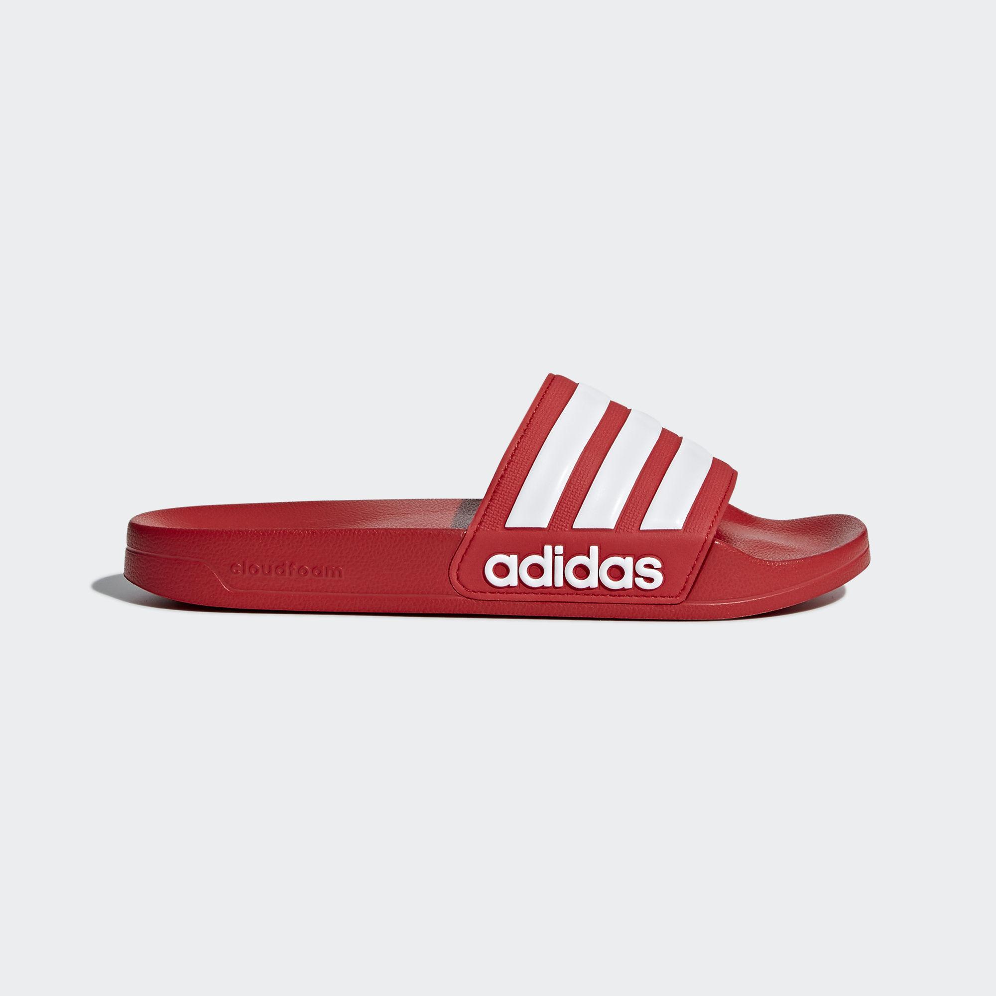 46e27237373e adidas Adilette Cloudfoam Slides in Red for Men - Lyst