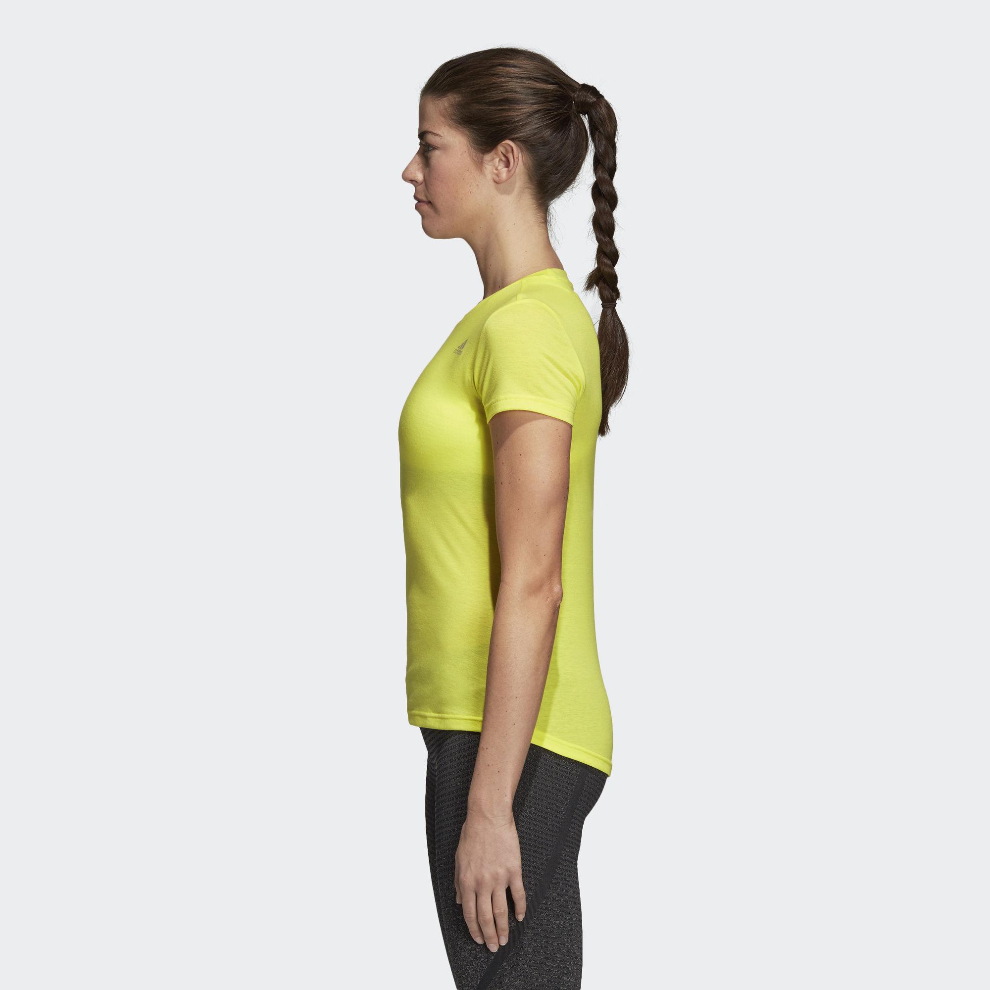 fc0d4db7 Adidas - Yellow Freelift Prime Tee - Lyst. View fullscreen