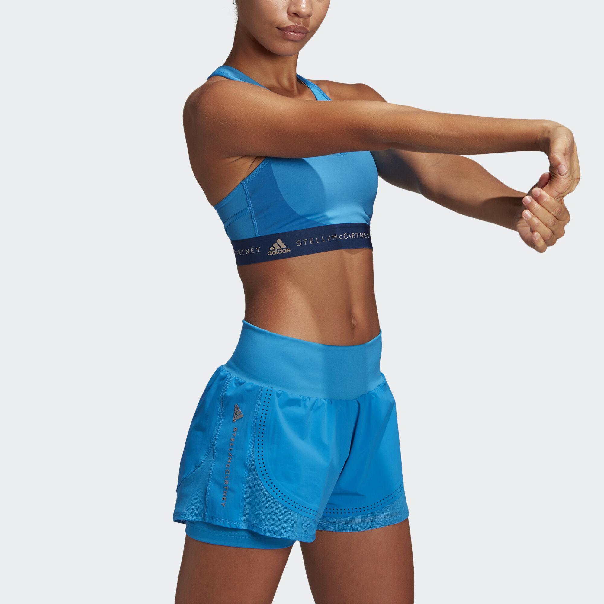 0b9eff1ab1a adidas Lycra Fitsense+ High Intensity Sports Bra in Blue - Lyst