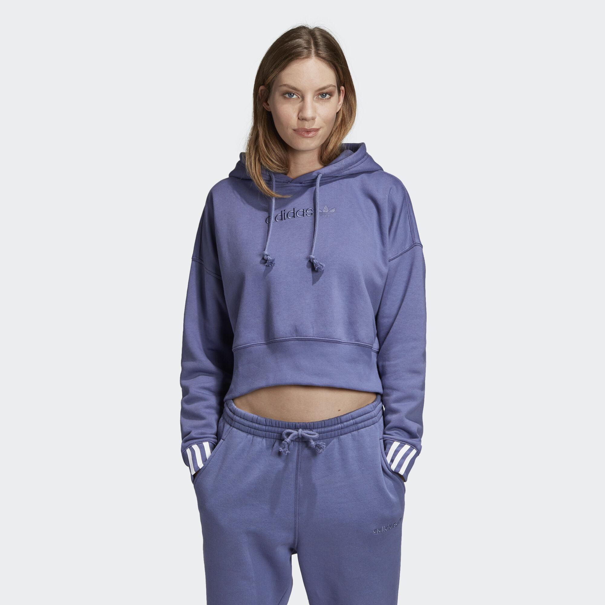 Con Lyst De Sudadera Adidas Azul Coeeze Cropped Capucha Color LSzMUVpGq