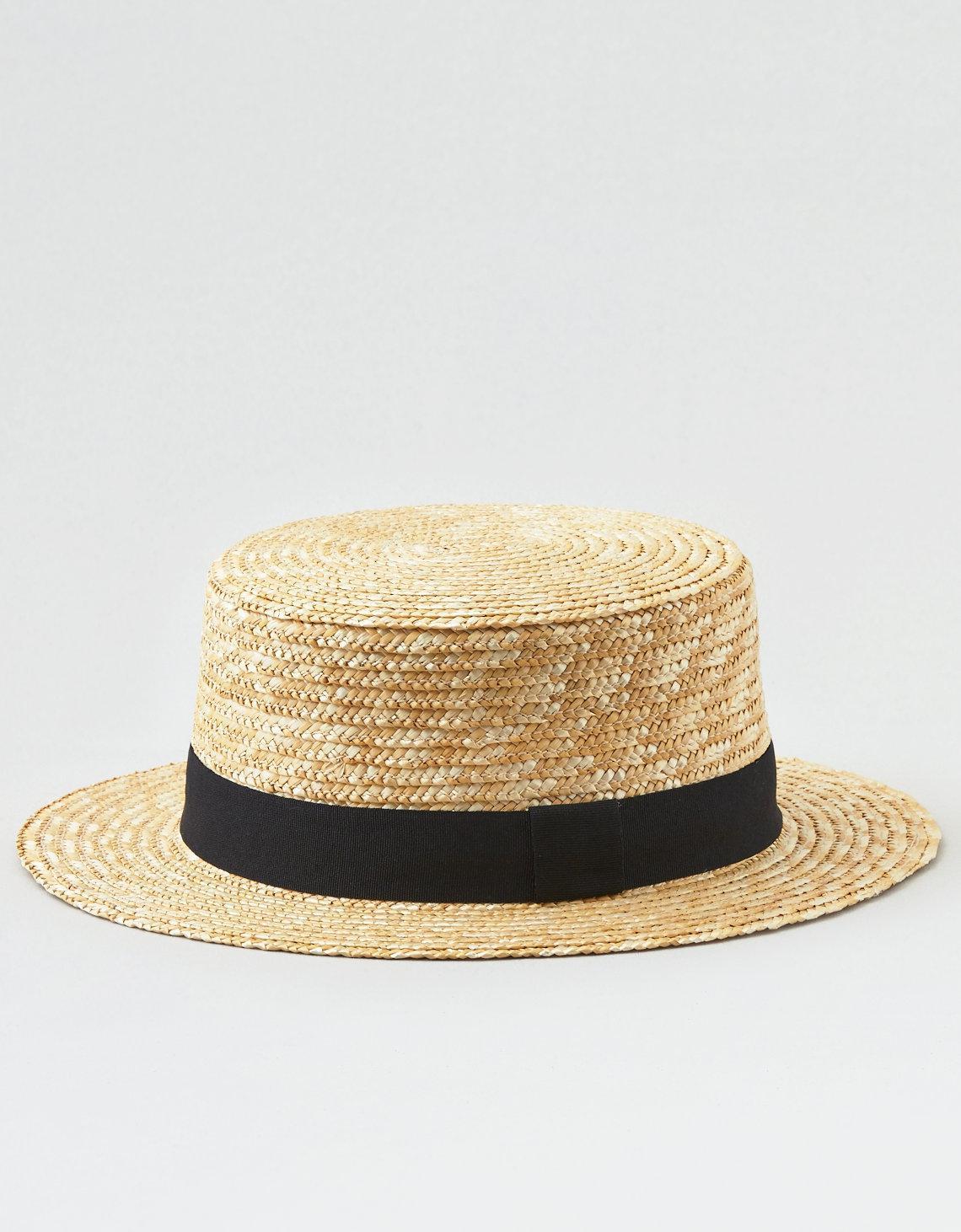 9df3b22c American Eagle Short Brim Boater Hat in Natural - Lyst