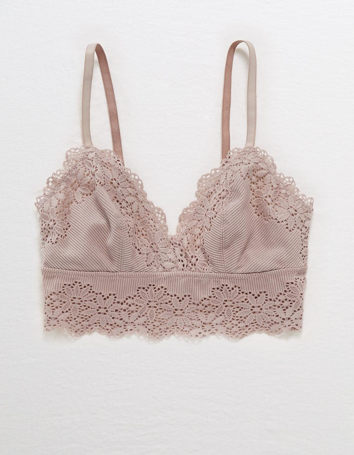 20d5d208ac281 American Eagle. Women s Ribbed Lace Plunge Bralette