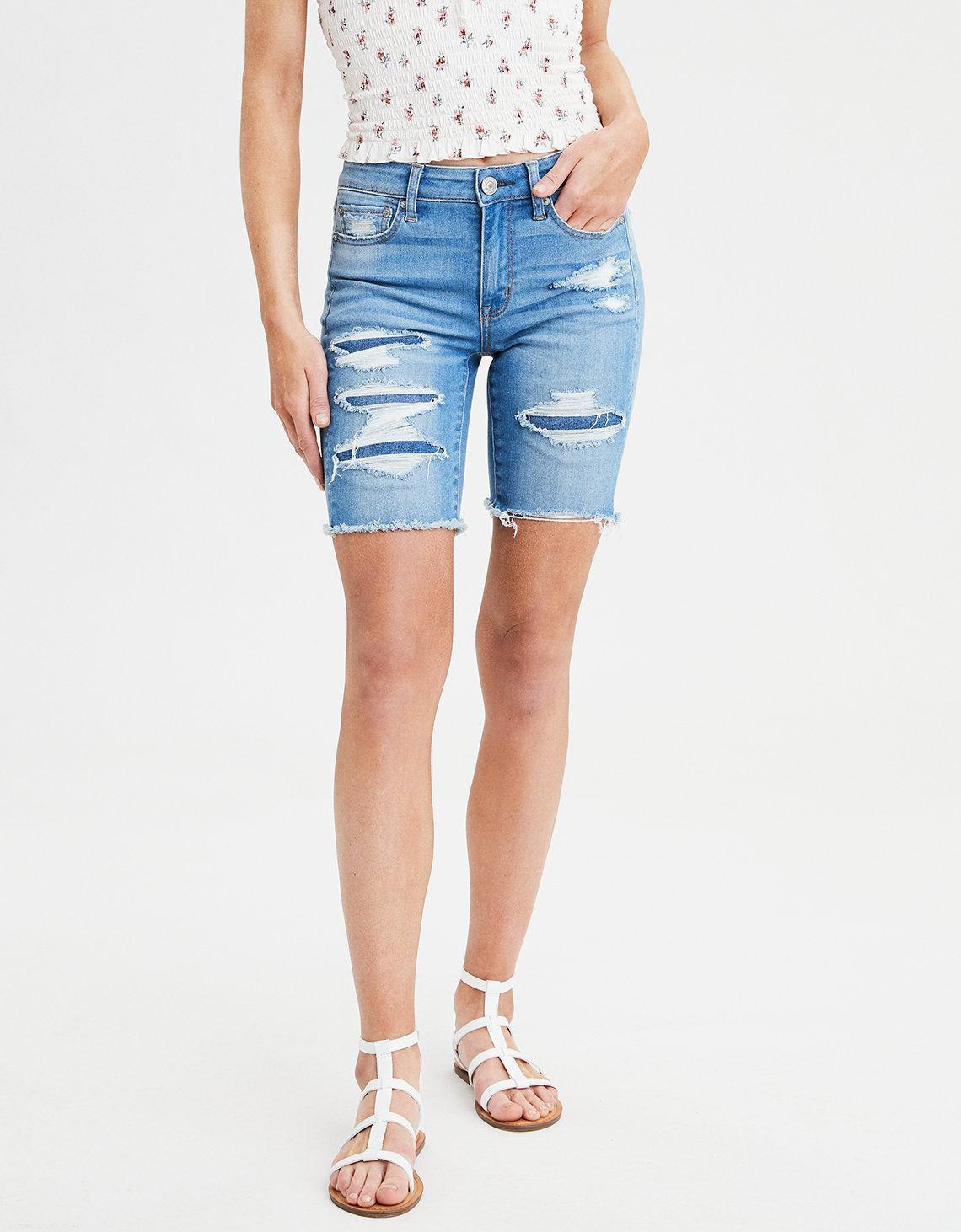 ec33b5000f7 American Eagle. Women s Blue Ae Ne(x)t Level High-waisted Skinny Bermuda  Short