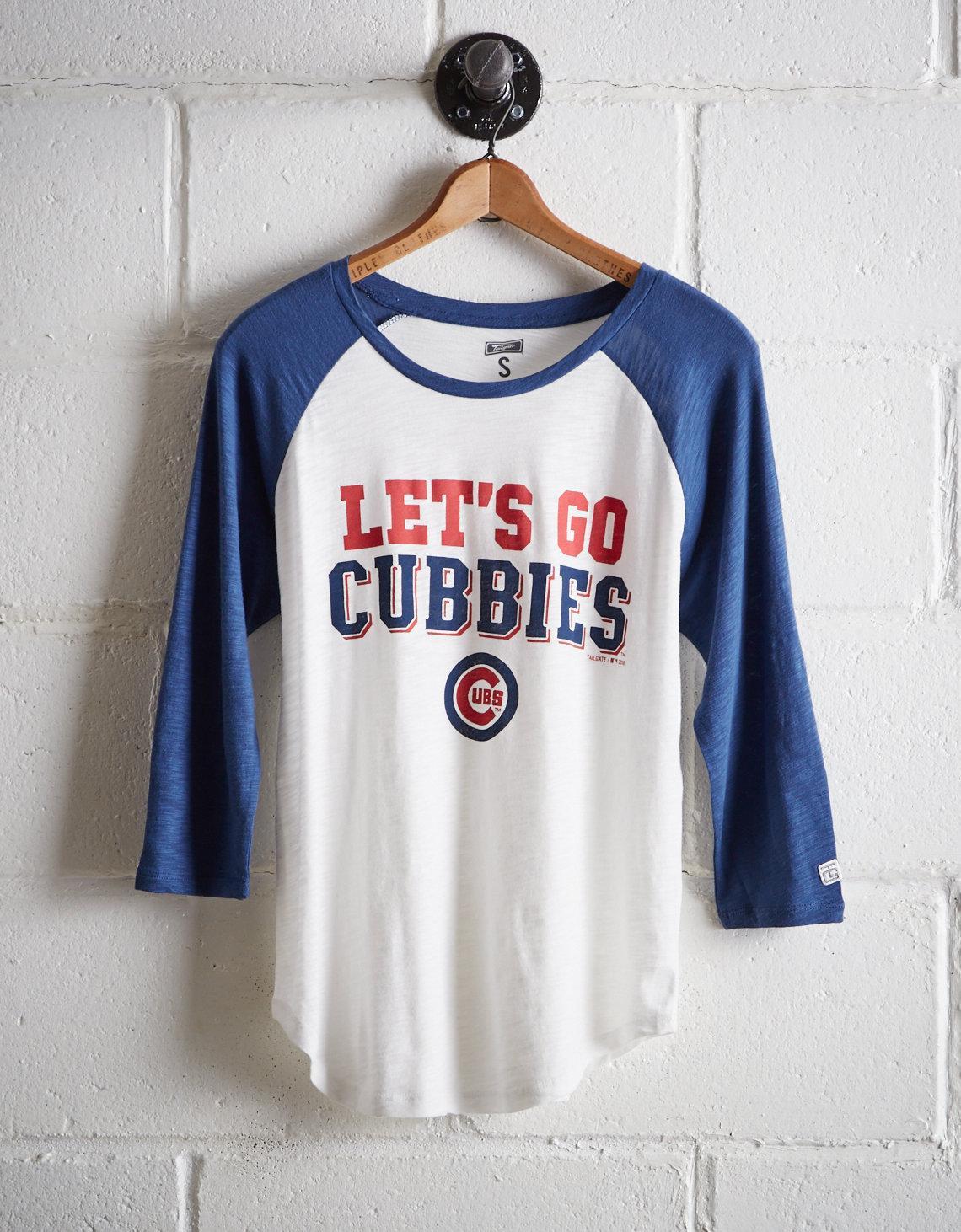 707fc636f396b Lyst - Tailgate Women s Chicago Cubs Baseball Shirt in White