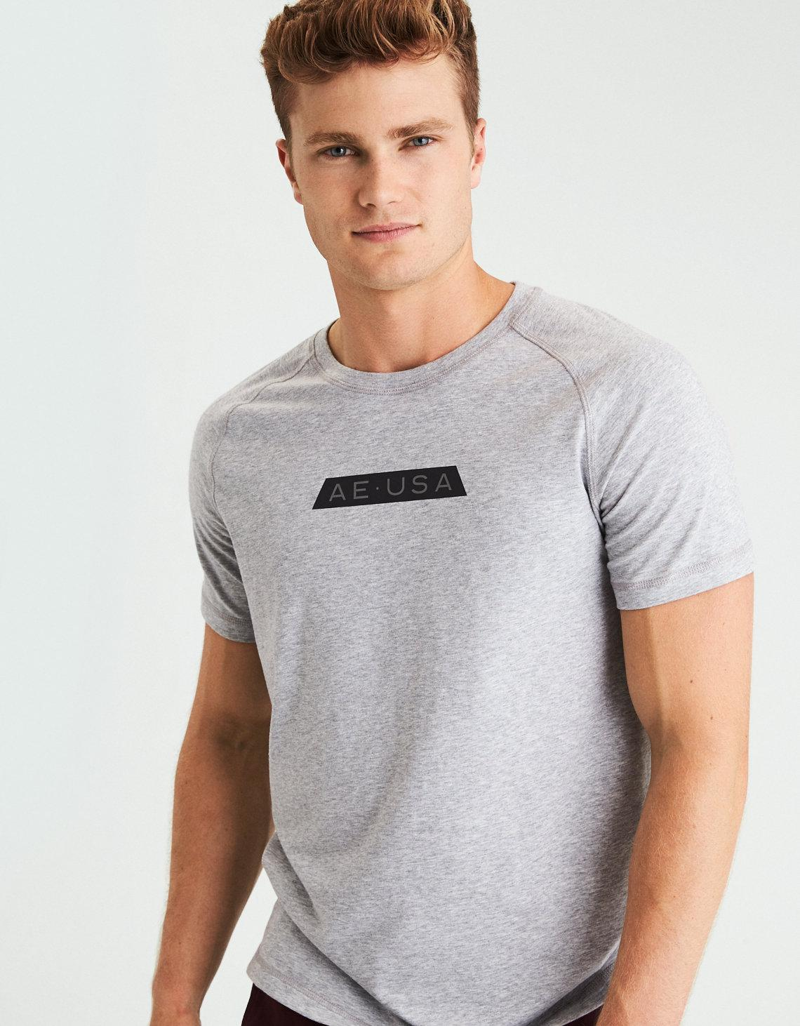 21f32025219d Lyst - American Eagle Flex Graphic Tee in Gray for Men