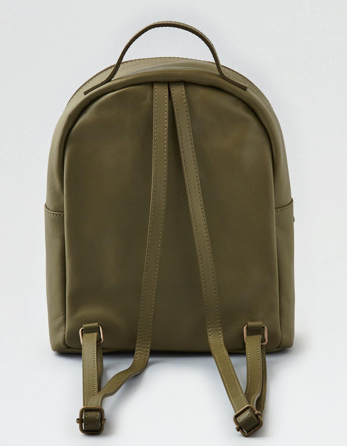 Lyst american eagle ae wander leather mini backpack in green jpg 1140x1462  Pink and grey american 1873e92d25176