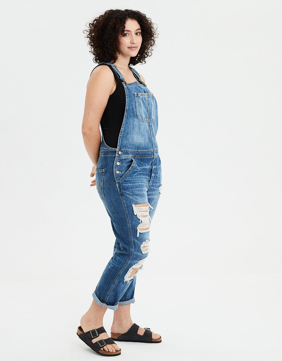 2c646befa0c6 Lyst - American Eagle Tomgirl Denim Overall in Blue