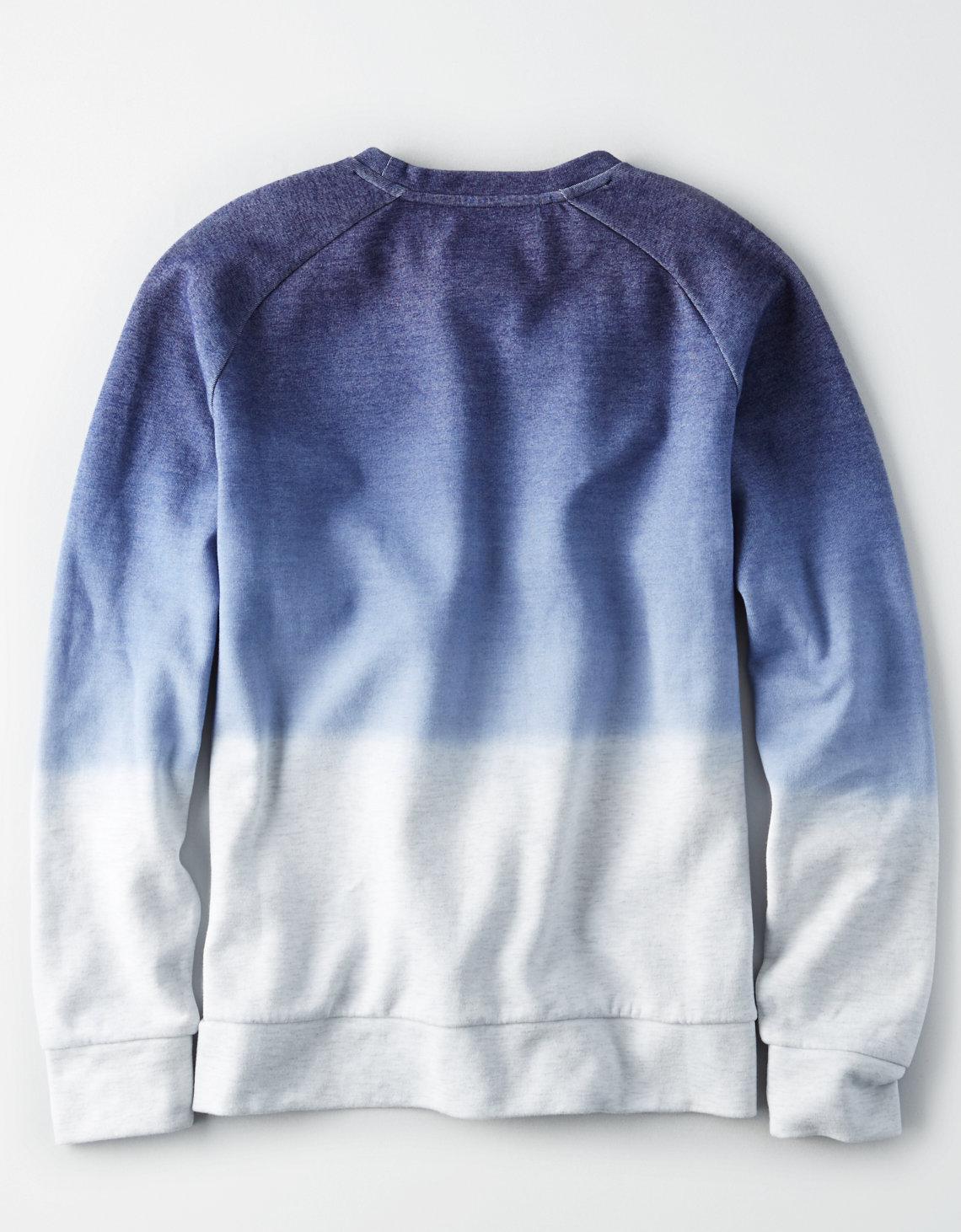 6f17659d American Eagle Ae Dip Dye Crew Neck Sweatshirt in Blue for Men - Lyst