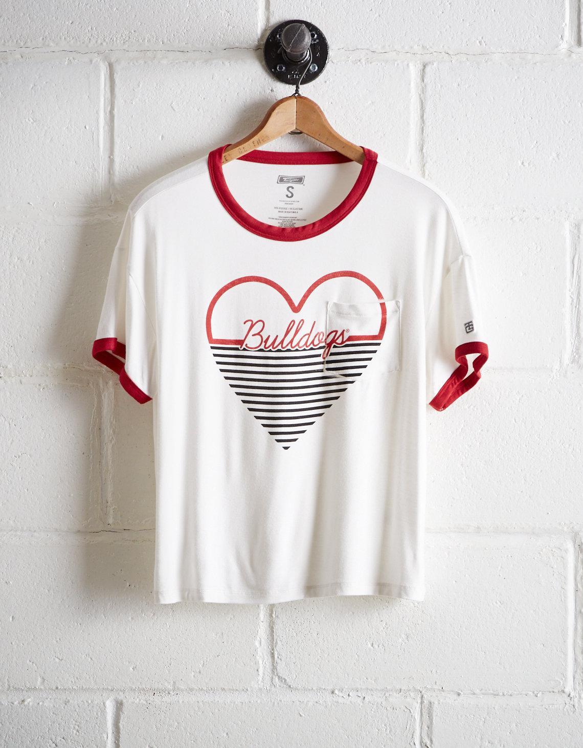 11ce42704b Lyst - Tailgate Women s Uga Bulldogs Heart Pocket T-shirt in White