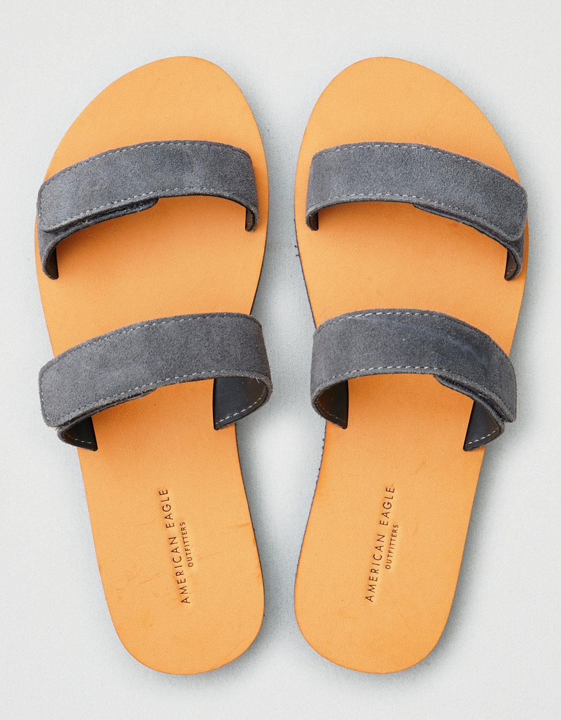5a899d3c903 Lyst - American Eagle Suede Double Strap Sandal in Gray