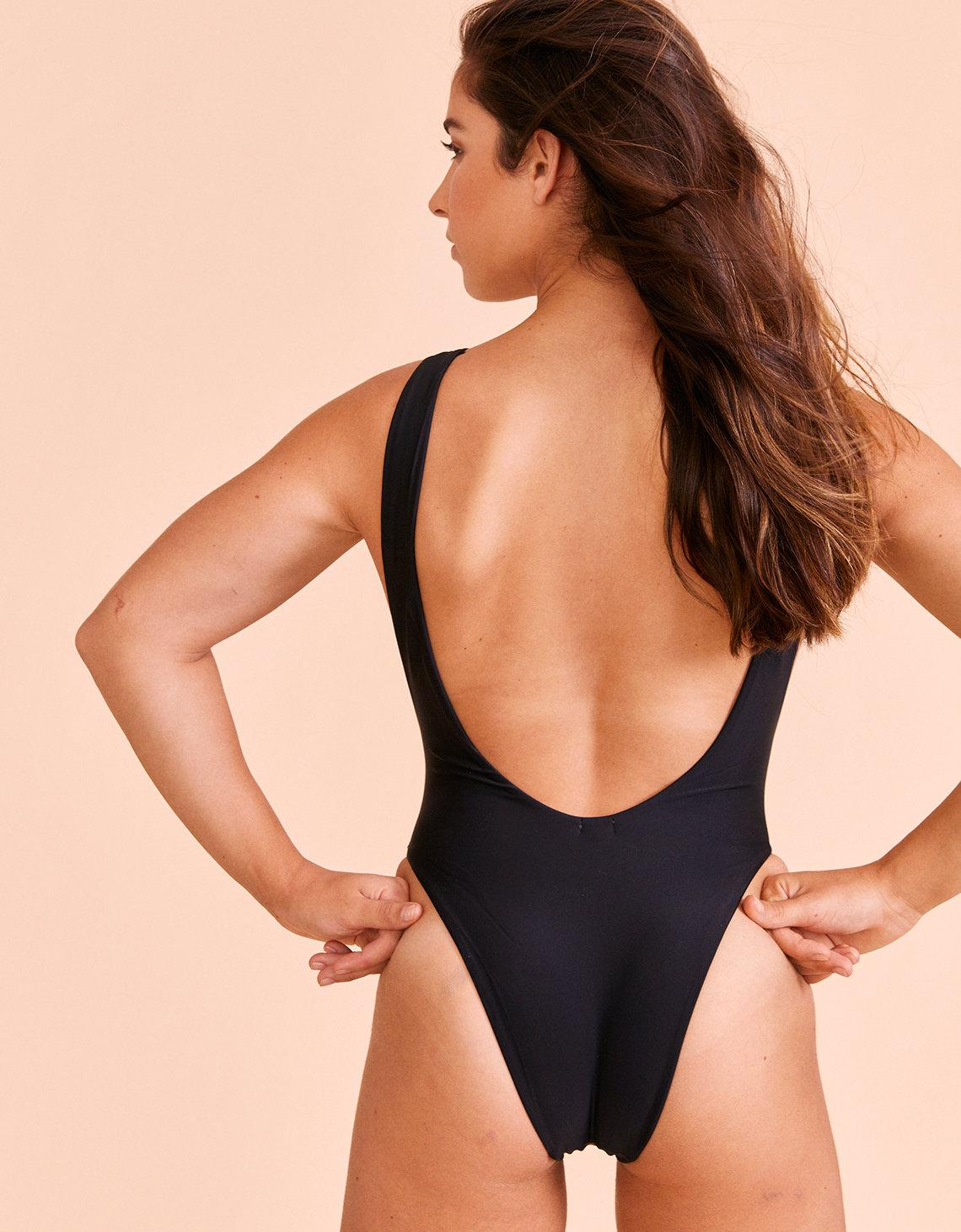 2e2f5c85ea7 American Eagle Aerie X Aly Super Scoop One Piece Swimsuit in Black ...
