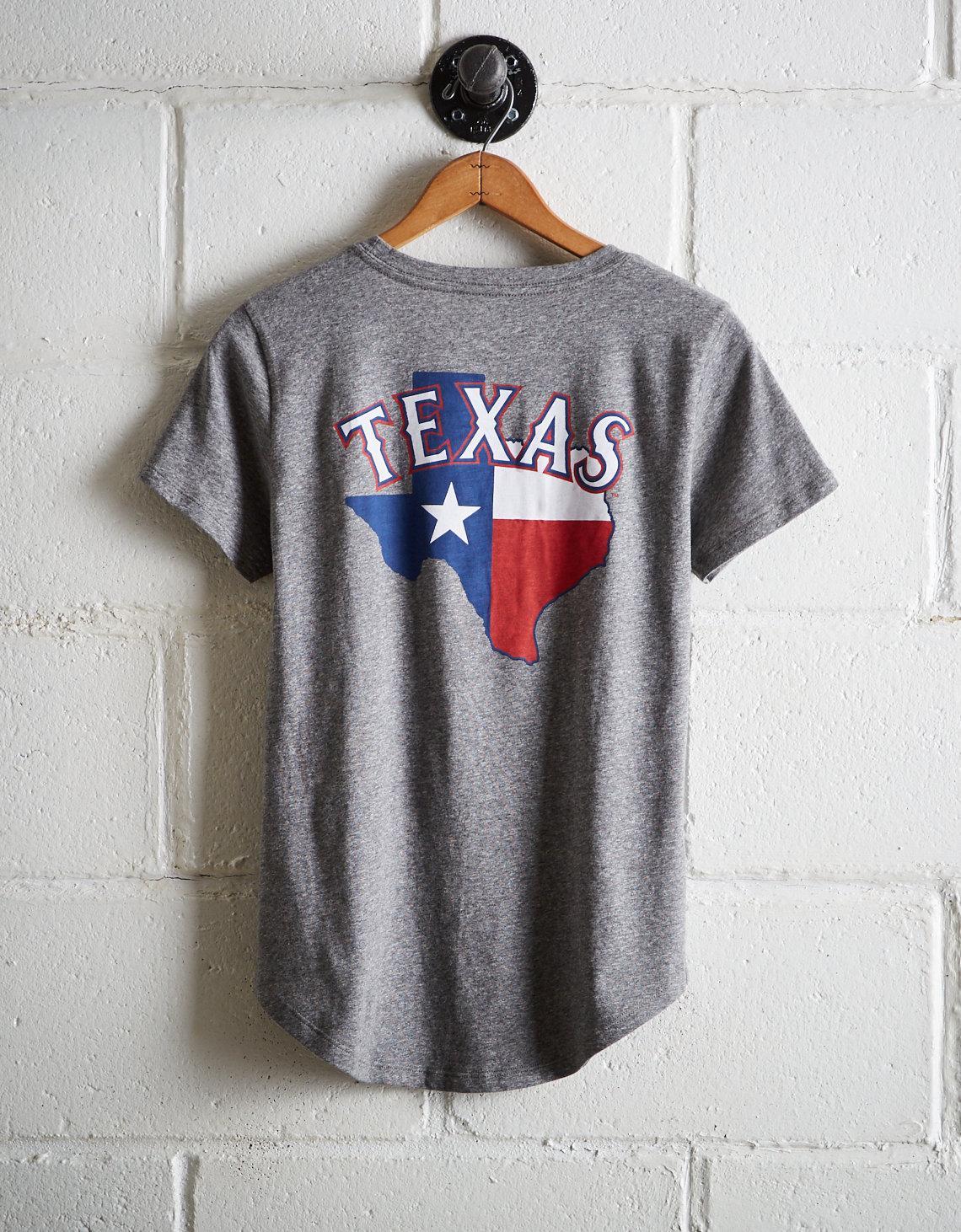d1d23bb47b7a6 Lyst - Tailgate Women s Texas Rangers T-shirt in Gray