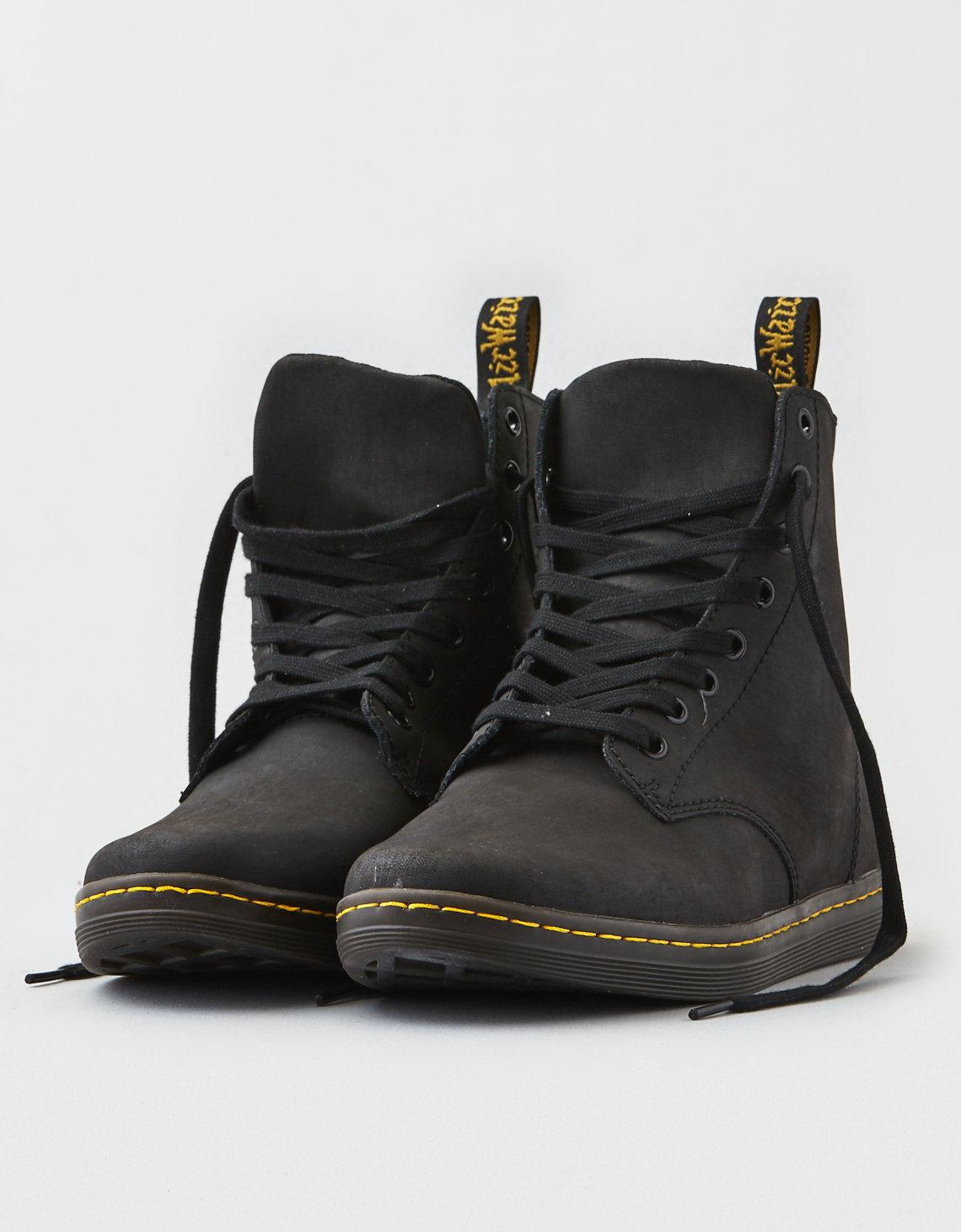 daaf0073e3ebd Lyst - American Eagle Dr. Martens Tobias 8 Eye Boot in Black for Men