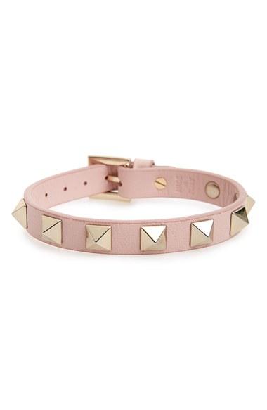 Pink Valentino Garavani Rockstud Bracelet Valentino kvQ8UYc5