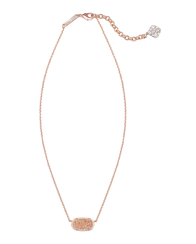 Kendra Scott Elisa Pendant Necklace In Pink Rose Lyst