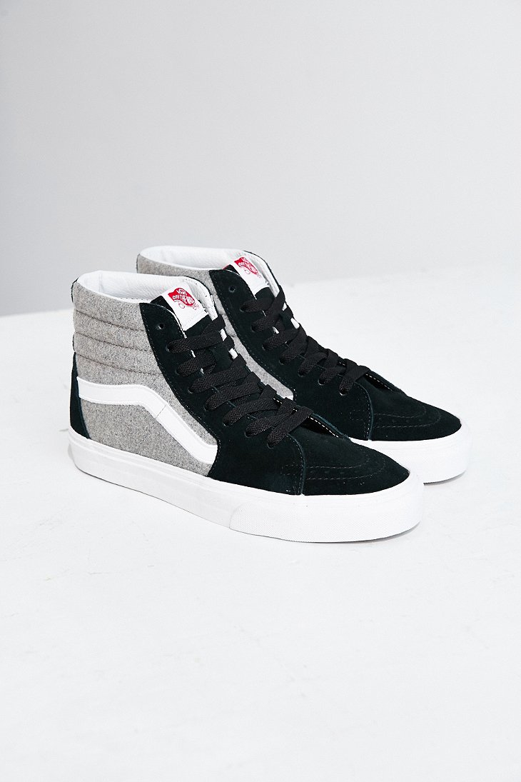 b93cd3a181 Lyst - Vans Sk8-hi Wool Sport Sneaker in Black