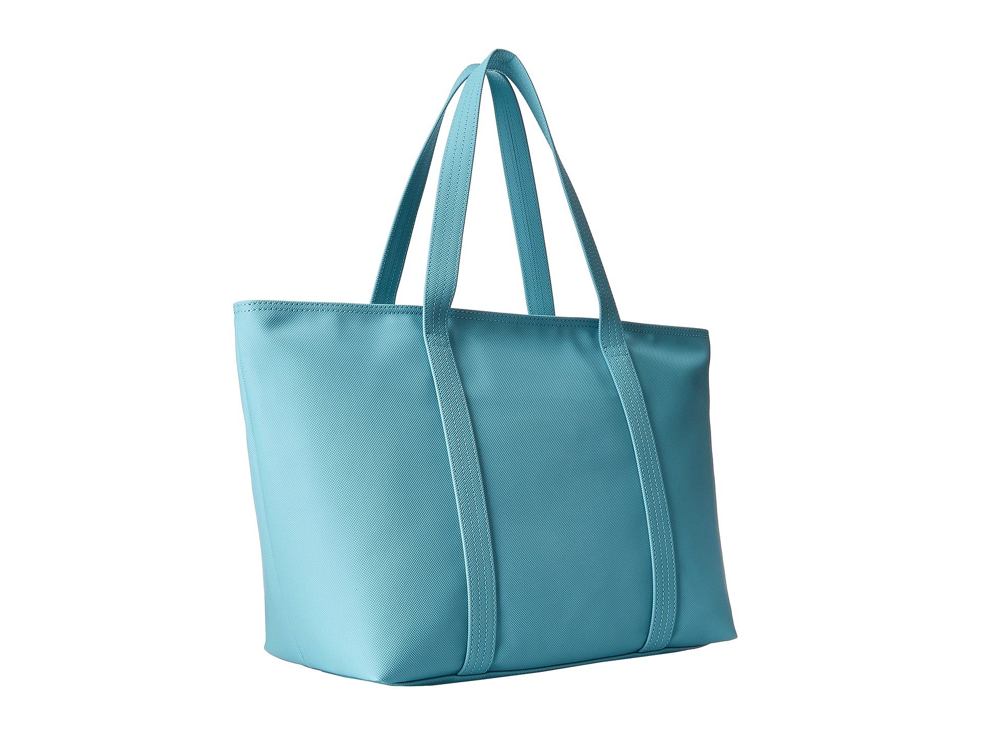 Lacoste Classic Large Shopping Bag in Blue | Lyst