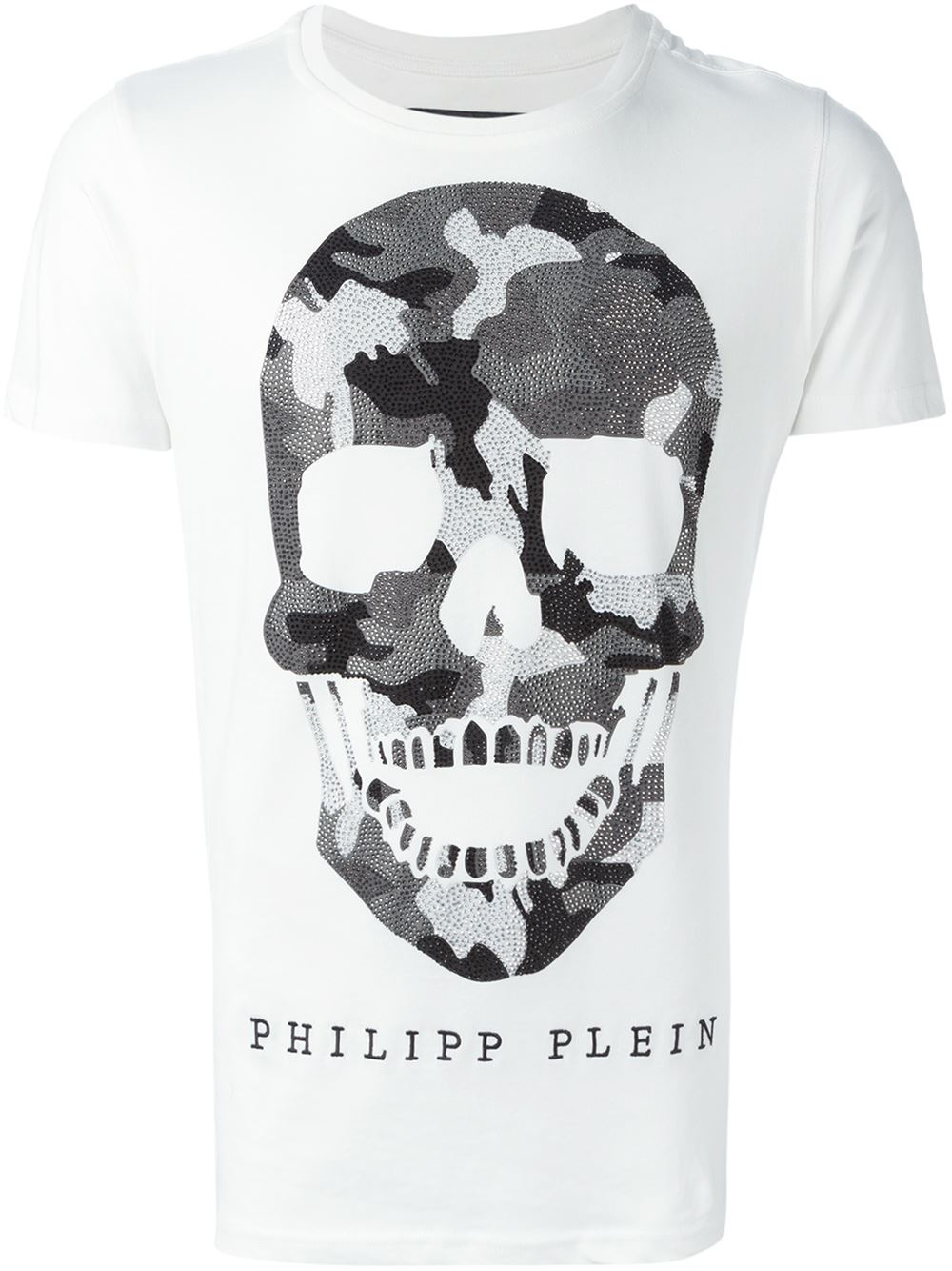 philipp plein 39 nani 39 t shirt in white for men lyst. Black Bedroom Furniture Sets. Home Design Ideas