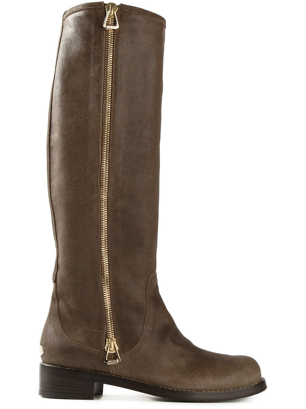 Jimmy choo 'Doreen' Boots in Brown | Lyst