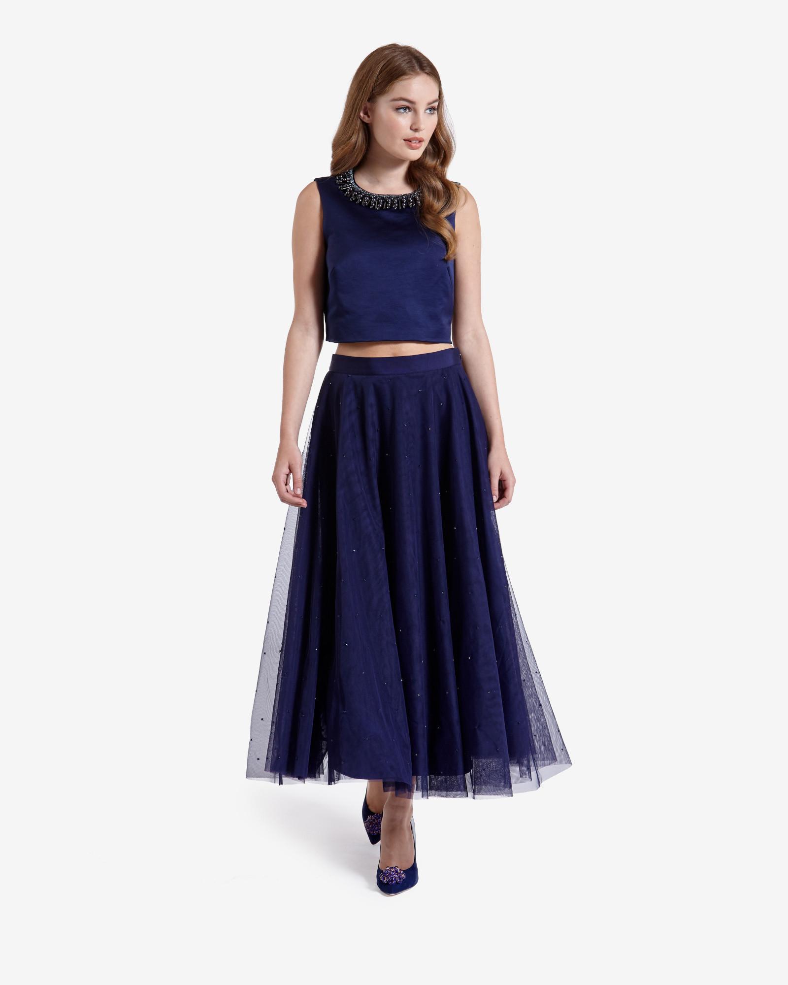 d4aeece6ec Ted Baker Odella Netted Tutu Skirt in Blue - Lyst