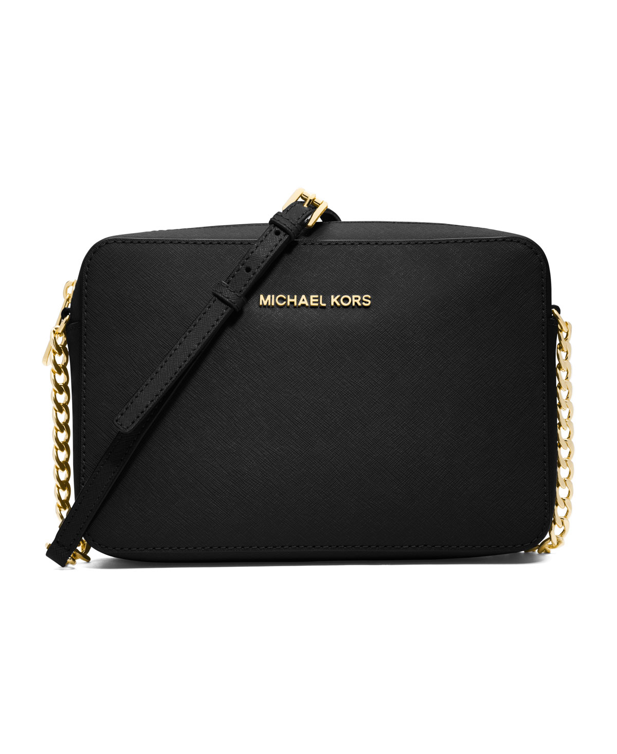 Michael Kors Crossbody Laukut : Michael kors large jet set crossbody in black lyst