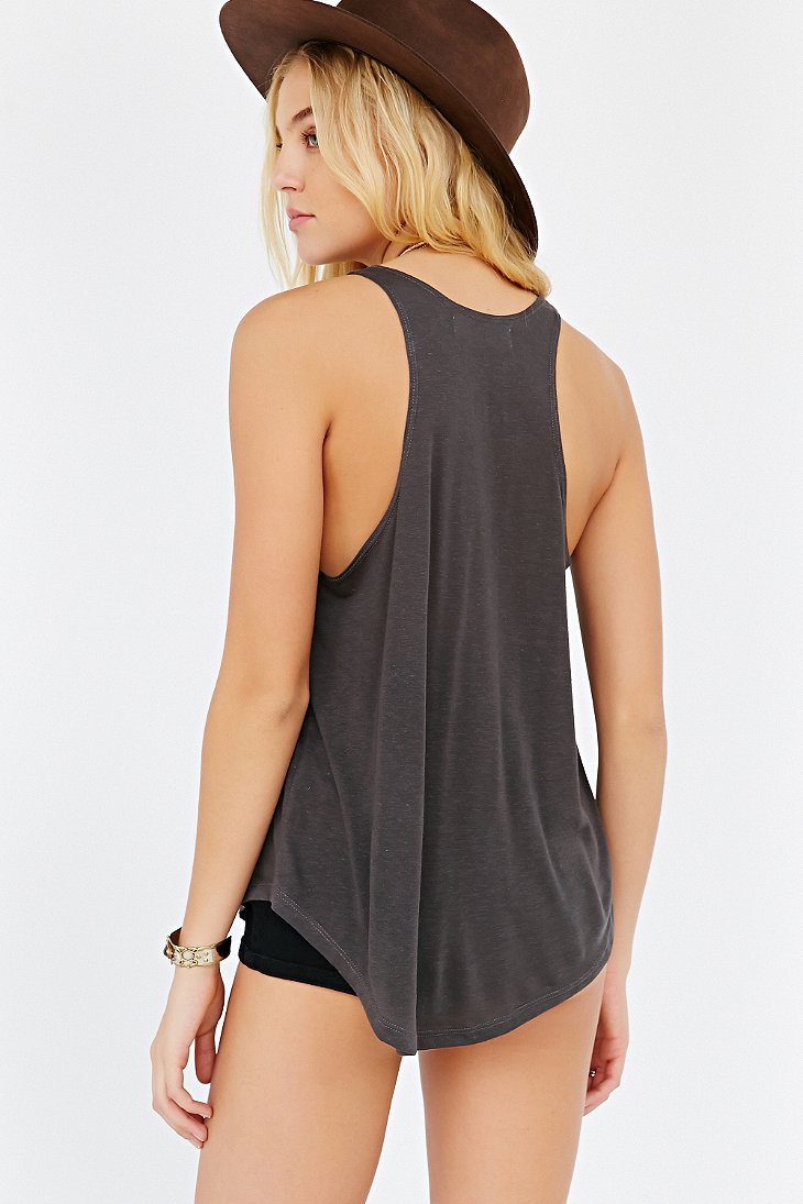 87409090e9 Project Social T Deep Scoop Tank Top in Gray - Lyst