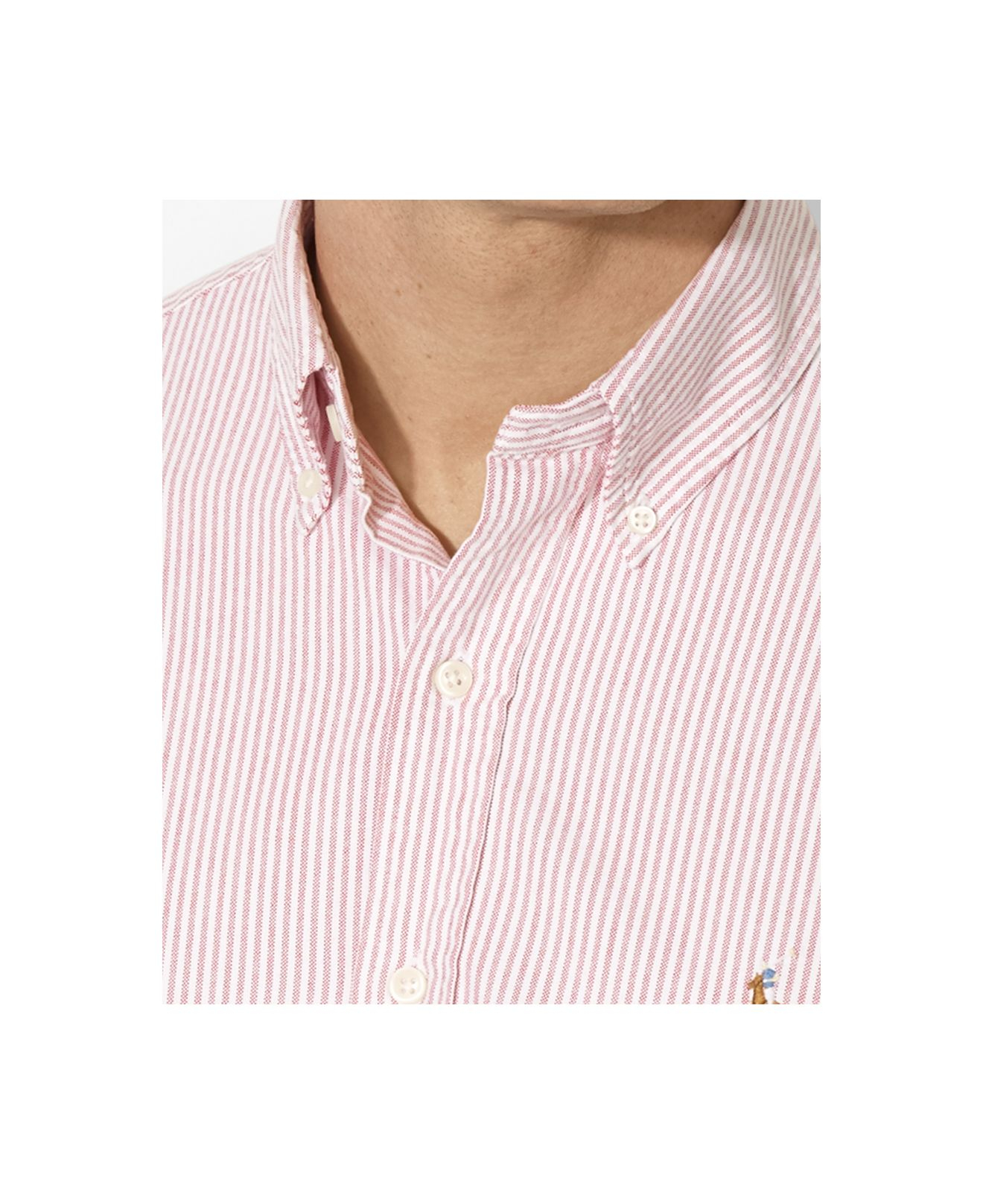 729252c10 Polo Ralph Lauren Classic-Fit Striped Oxford Shirt in Pink for Men ...