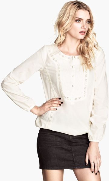 H And M Cotton Blouse 93