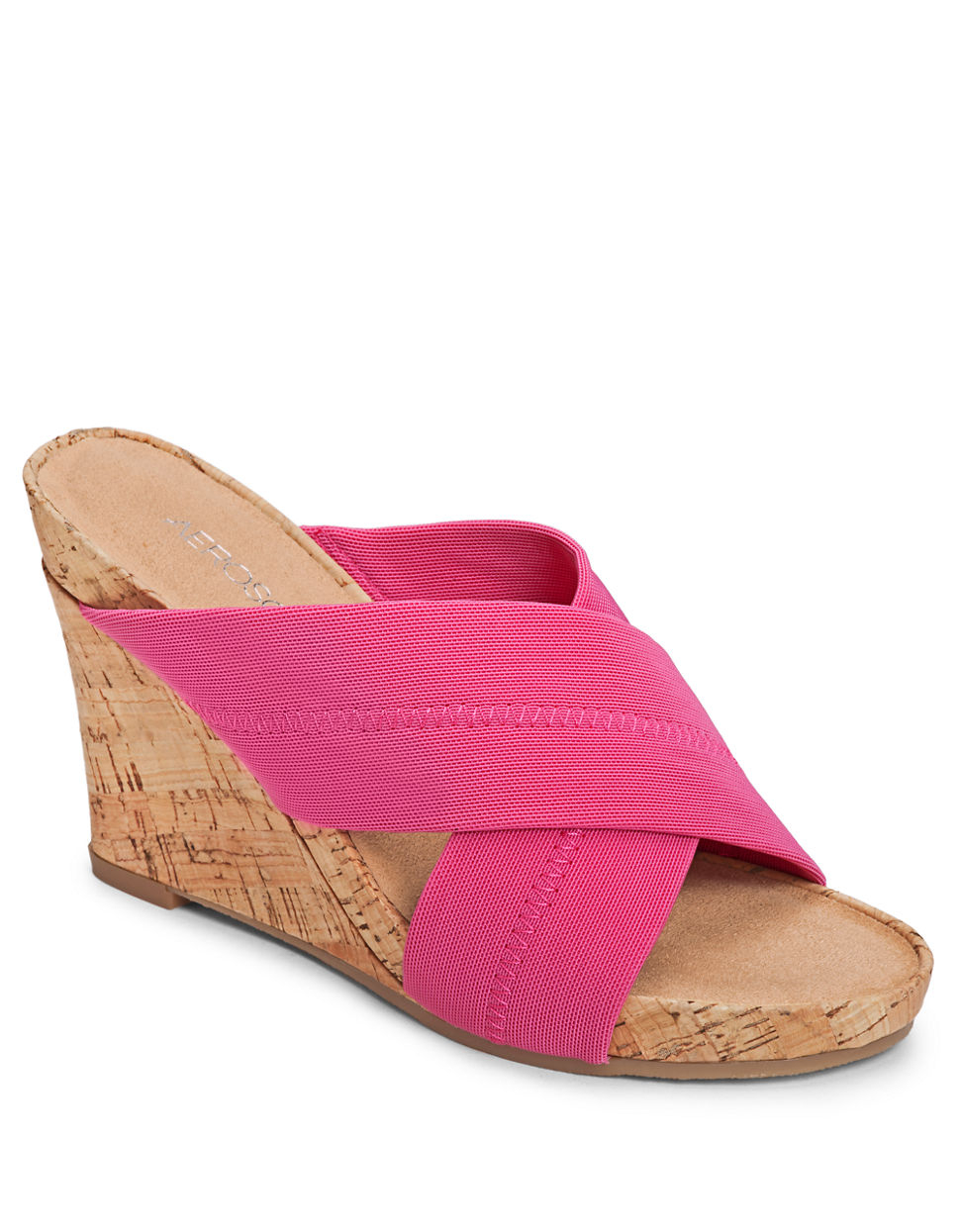 b6b6314f41f986 Aerosoles Party Plush Wedge Sandals in Pink - Lyst