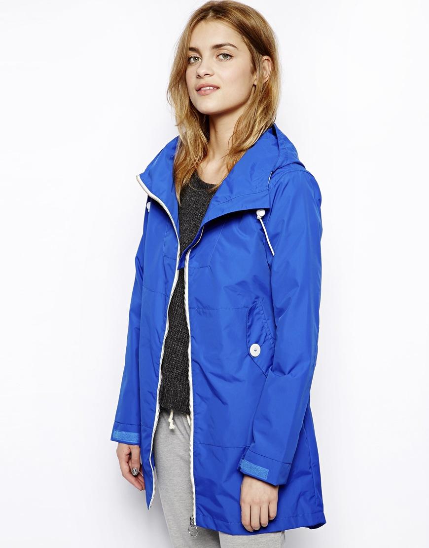 Penfield Gibson Long Rain Jacket in Blue | Lyst