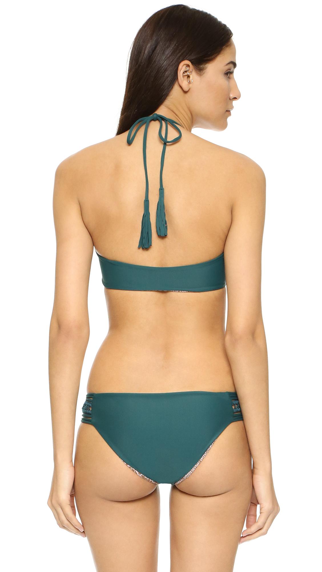 188eb39f08b9f Lyst - Acacia Swimwear Panama Bikini Top in Blue