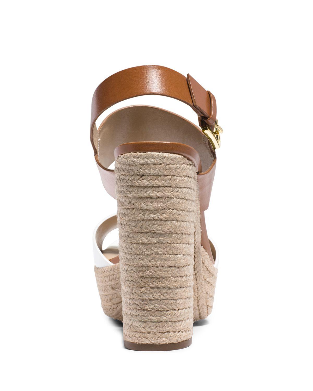 19946db63 Michael Kors Espadrille Platform Sandals - Summer High Heel in White ...