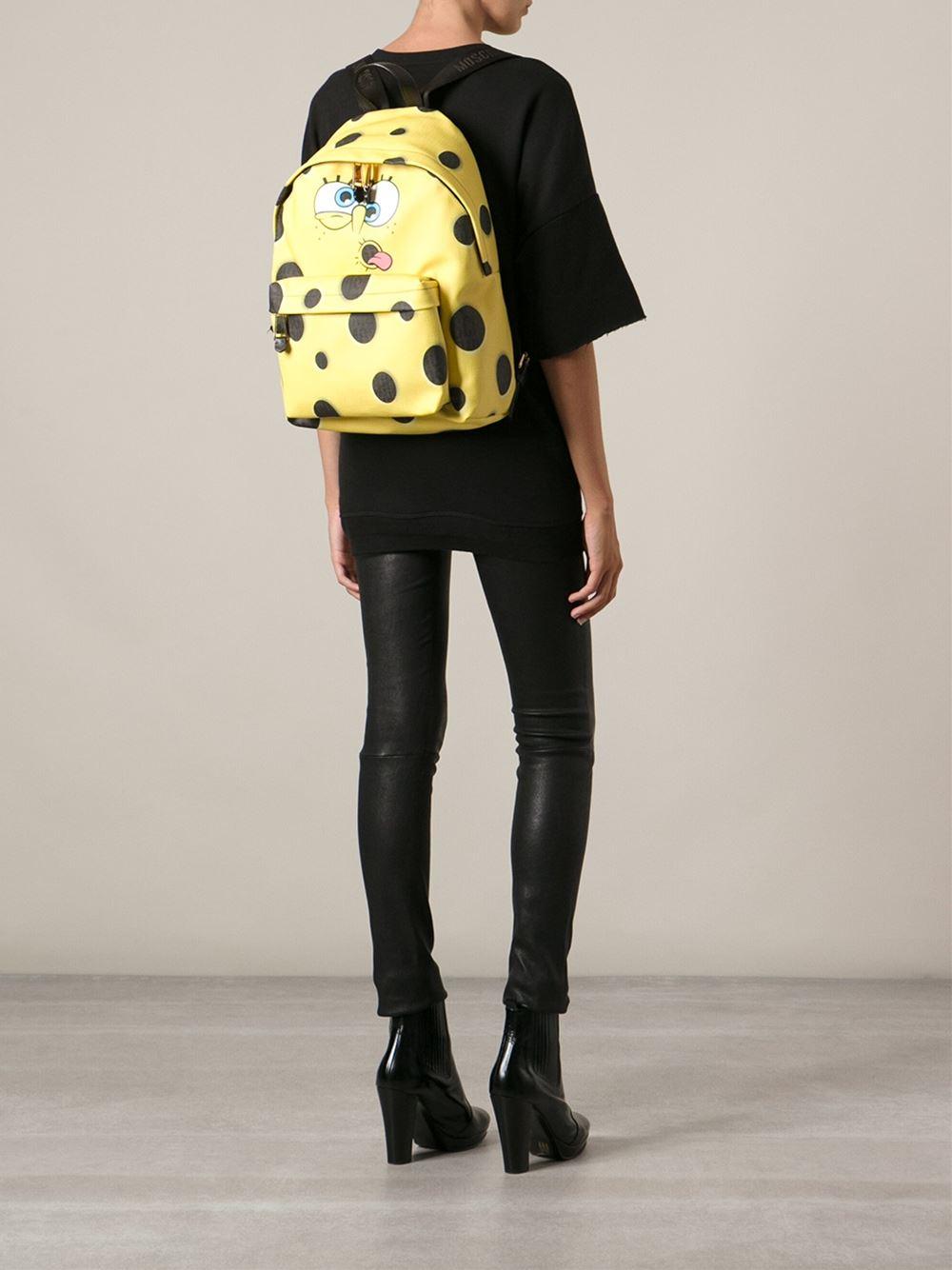 Lyst Moschino Spongebob Squarepants Backpack In Yellow