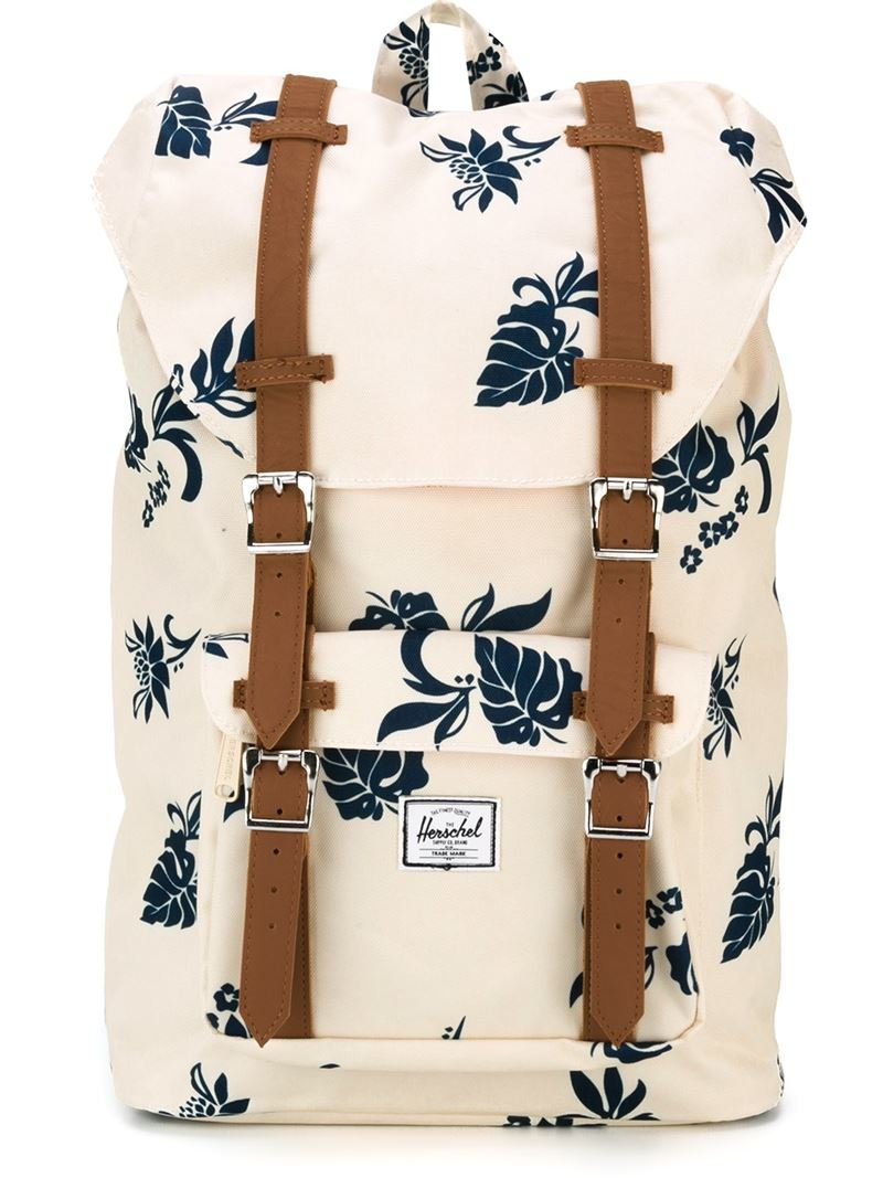 Lyst - Herschel Supply Co. Leaf Print Backpack in White 0283a24951