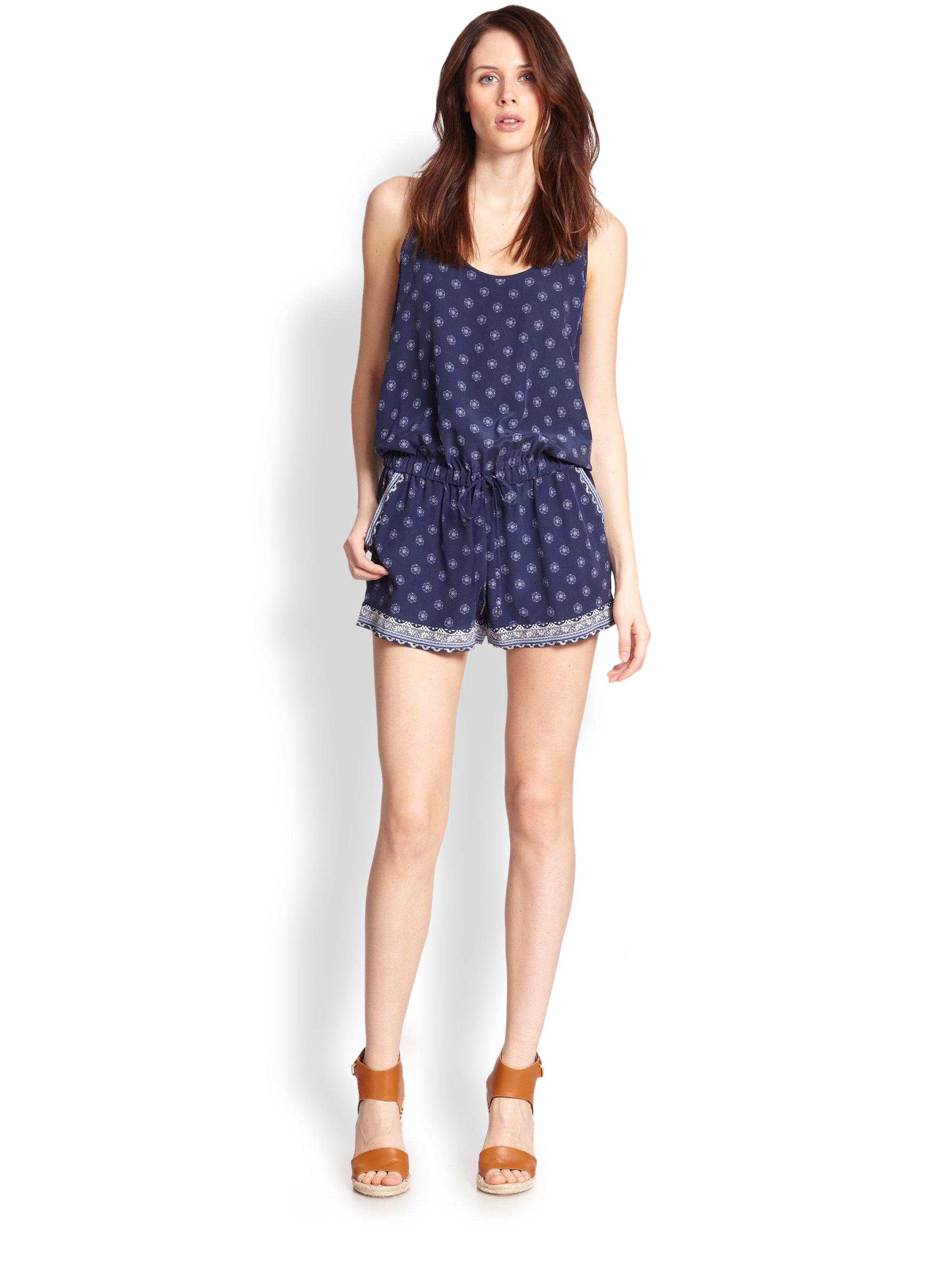 Blue Short Jumpsuit