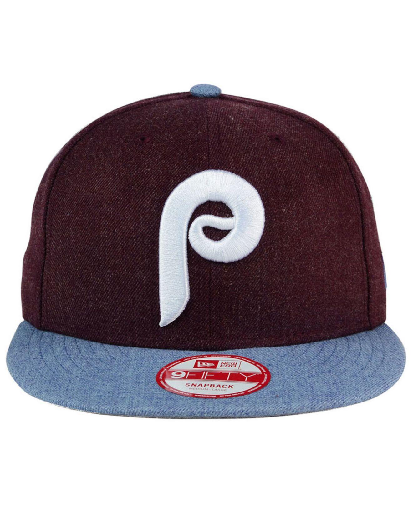 96a1fd51b7e Lyst - Ktz Philadelphia Phillies Heather Action 9fifty Snapback Cap ...