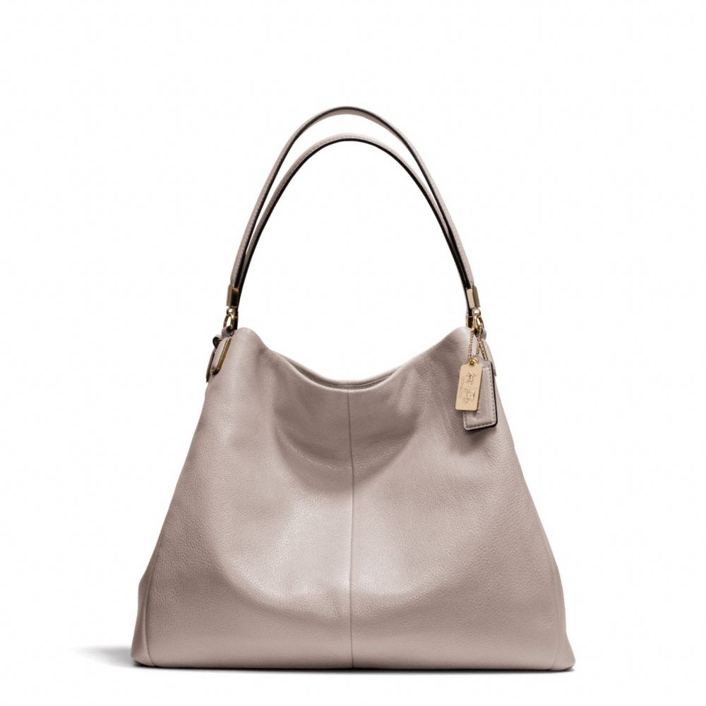 05a48ba865 Lyst - COACH Madison Phoebe Shoulder Bag in Leather in Gray